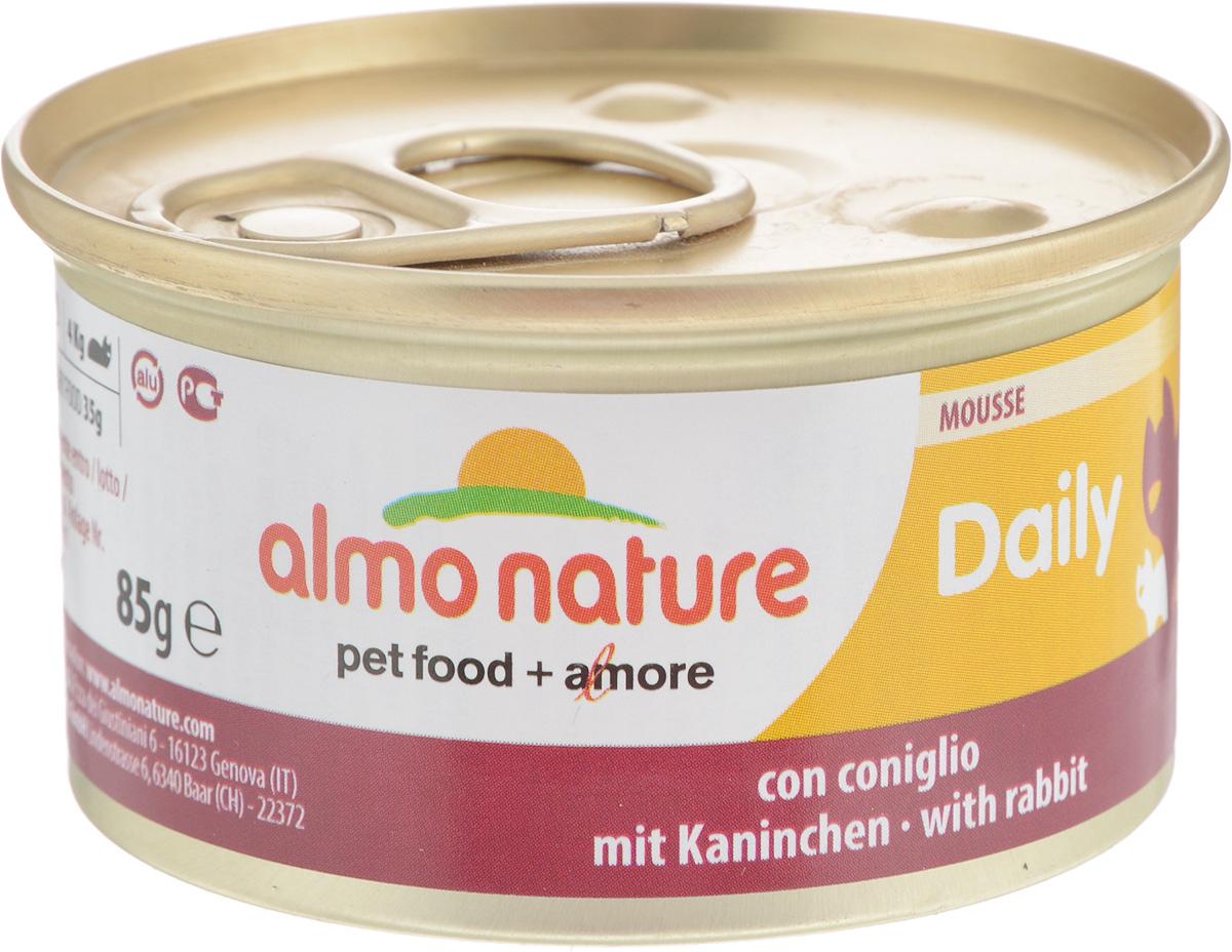 Консервы Almo Nature для кошек, с кроликом, 85 г20348Консервы для кошек Almo Nature сохраняют свежесть каждого кусочка. Корм изготовлен только из свежих высококачественных натуральных ингредиентов, что обеспечивает здоровье вашей кошки. Не содержит ГМО, антибиотиков, химических добавок, консервантов и красителей. Состав: мясо и его производные (кролик 4%), минералы, экстракт растительных волокон. Добавки: витамин A 1110 IU/кг, витамин D3 140 IU/кг, витамин E 10 мг/кг, таурин 490 мг/кг, сульфат меди пентагидрат 4,4 мг/кг (Cu 1.1 мг/кг). Технологические добавки: камедь кассии 3000 мг/кг. Пищевая ценность: белки 9,5%, клетчатка 0,4%, масла и жиры 6%, зола 2%, влажность 81%. Товар сертифицирован.