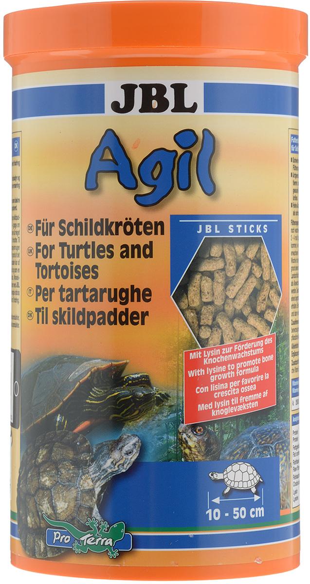 Корм питательный JBL Agil для черепах, в форме палочек, 400 г (1 л)JBL7034300JBL Agil представляет собой корм, богатый питательными веществами, и содержит лизин для роста костной системы. Высокое содержание рыбьего белка и удобная форма корма делают его чрезвычайно популярным у черепах. Корм богат протеинами из рыб и креветок, благодаря чему очень эффективен в применении. Товар сертифицирован.