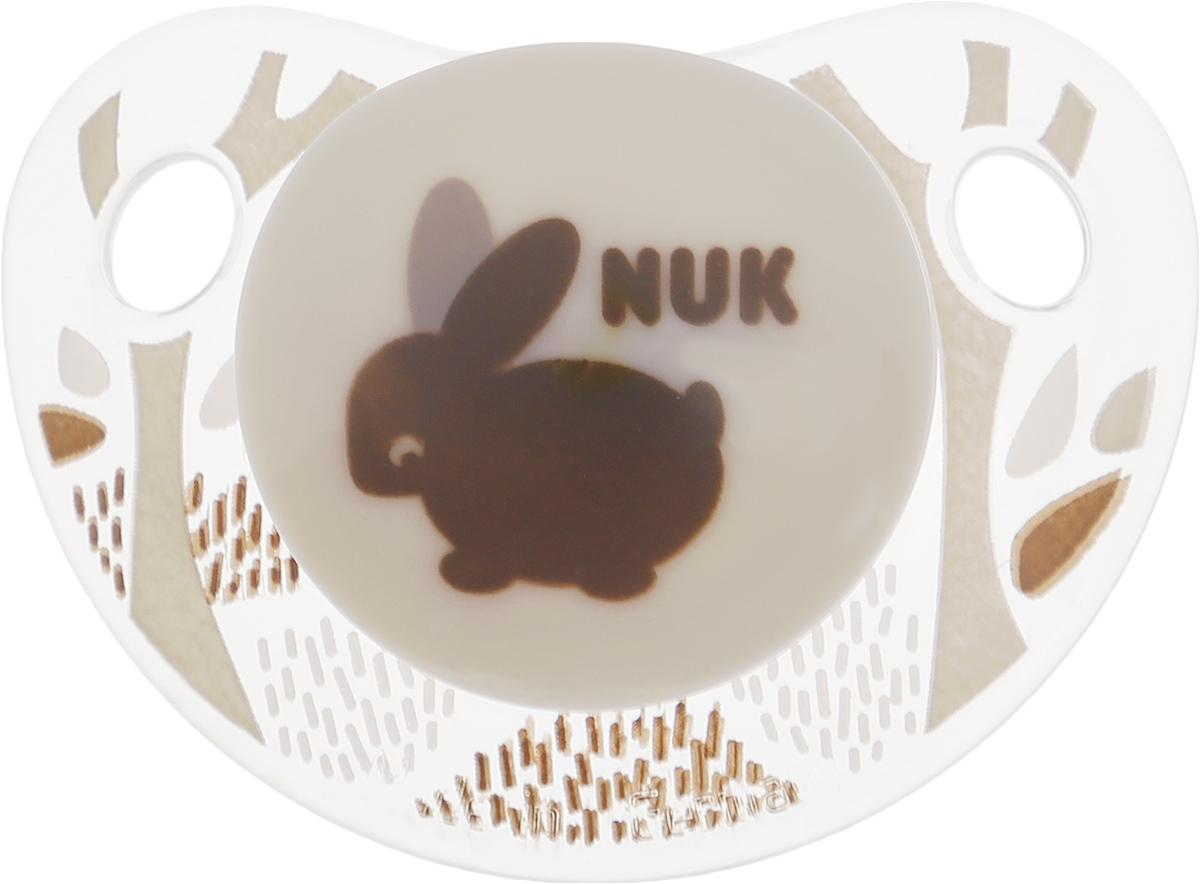 NUK Пустышка ортодонтическая Trendline Adore Зайка от 18 до 36 месяцев