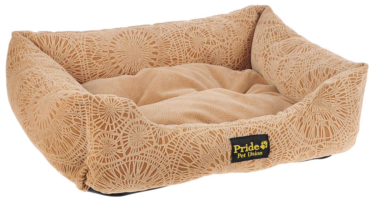 Лежак для животных Pride Фортуна, цвет: песочный, 60 х 50 х 18 см10012331_песочныйЛежак Pride Фортуна прекрасно подойдет для отдыха вашего домашнего питомца. Предназначен для собак средних пород и кошек. Изделие выполнено из прочных материалов высшего качества. Лежак оснащен съемным матрасиком. Комфортный и уютный лежак обязательно понравится вашему питомцу, животное сможет там отдохнуть и выспаться.