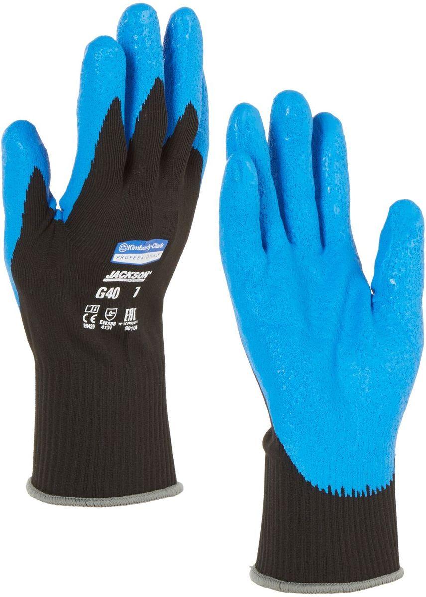Перчатки хозяйственные Jackson Safety G40, цвет: синий. Размер 9 (L). 4022740227Ассортимент перчаток для защиты рук от механических воздействий – повышают безопасность труда и сокращают затраты. Идеальное решение, обеспечивающее защиту СИЗ категории II (CE Intermediate) при выполнении операций на производственных участках, в машиностроении, строительстве и любых других универсальных работах. Высокий 4-й уровень стойкости к истиранию (согласно EN 388). Хорошая защита от механических травм и порезов при повышенной тактильной чувствительности, позволяющей работать с мелкими деталями. Воздухопроницаемость материала благодаря пенному нитриловому покрытию. Тыльная часть из бесшовного вязаного нейлона обеспечивает воздухопроницаемость материала. Формат поставки: перчатки с индивидуальным дизайном для левой и правой руки; пять размеров с цветовой кодировкой манжет; гладкое нитриловое покрытие ладони обеспечивает превосходный сухой захват; тыльная часть из бесшовного вязаного нейлона для воздухопроницаемости и комфорта. Размеры: 40225 - 7 (S) 40226 - 8 (M) 40227 - 9 (L)...