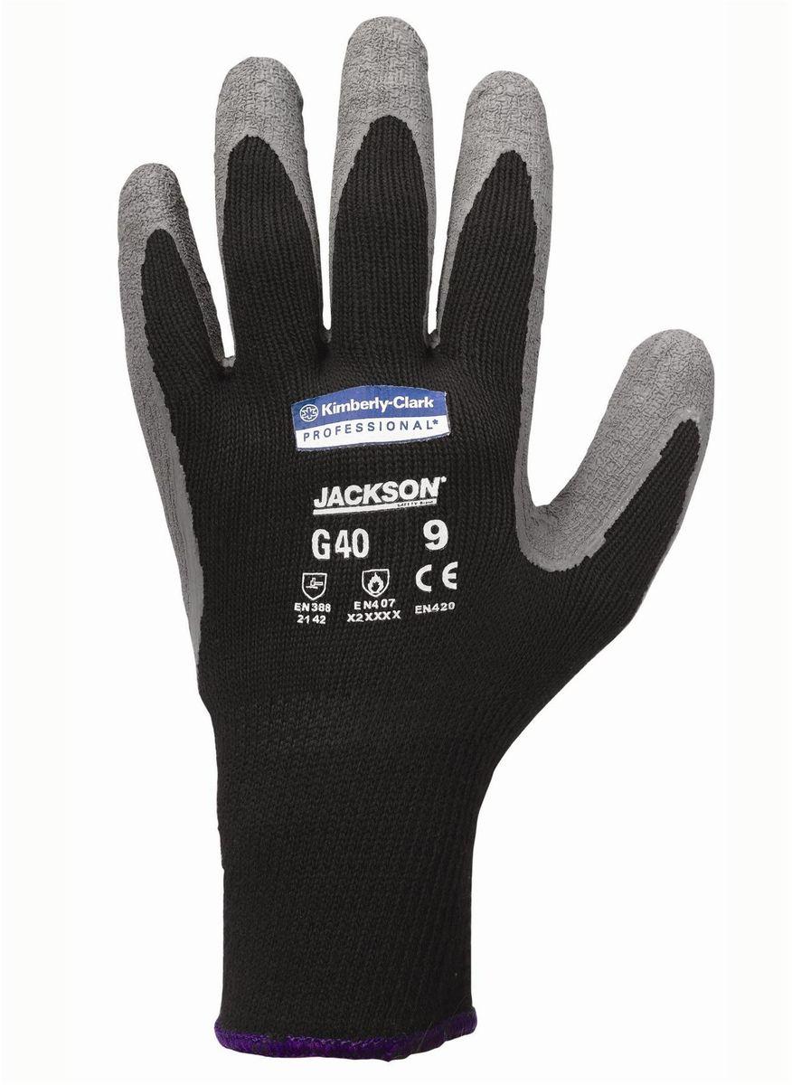Перчатки хозяйственные Jackson Safety G40, цвет: серый. Размер 10 (XL). 9727397273Ассортимент перчаток для защиты рук от механических воздействий – повышают безопасность труда и сокращают затраты. Идеальное решение, обеспечивающее защиту СИЗ категории II (CE Intermediate) при выполнении операций на производственных участках, в машиностроении, строительстве и любых других универсальных работах. 2-й уровень стойкости к истиранию (согласно EN 388). Ввиду высокой стойкости к разрыву данный вид перчаток имеет длительный срок службы. Бесшовная вязаная структура из полиэстера обеспечивает воздухопроницаемость и комфорт во время использования перчаток. Благодаря сочетанию механической и термической защиты данные перчатки являются востребованными в различных областях применения. Надежный захват благодаря текстурированному латексному покрытию. Формат поставки: перчатки с индивидуальным дизайном для левой и правой руки; пять размеров с цветовой кодировкой манжет; гладкое нитриловое покрытие ладони обеспечивает превосходный сухой захват; тыльная часть из бесшовного вязаного...