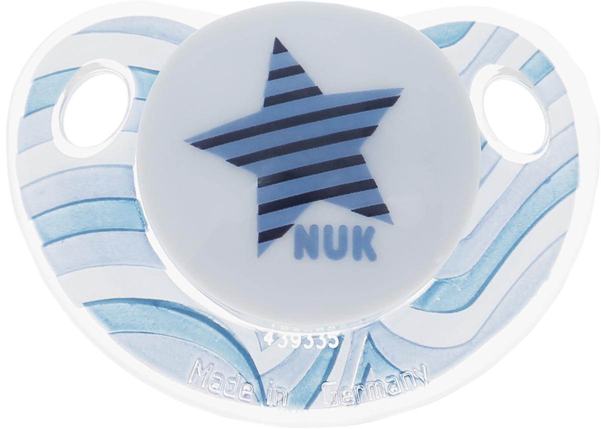 NUK Пустышка ортодонтическая Trendline Adore Звезда от 18 до 36 месяцев