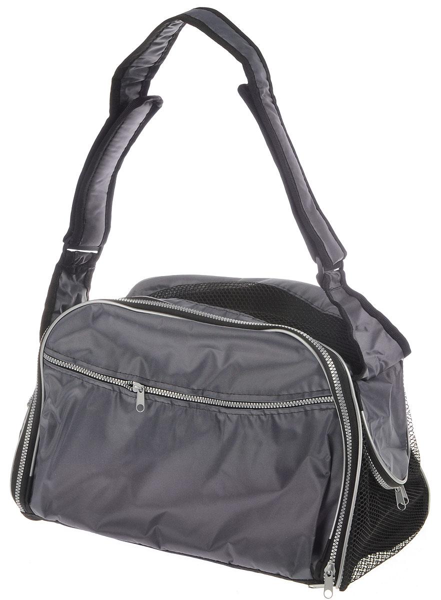 Сумка-переноска для животных Elite Valley, с отверстием для головы, цвет: серый, 45 х 28 х 30 смС-49_серыйТекстильная сумка Elite Valley предназначена для собак мелких пород и кошек. Изделие закрывается на застежку- молнию. Для удобной переноски предусмотрена удобная ручка. С внешней стороны имеется два кармана на молнии. Также сумка оснащена отверстием для головы животного, закрывающего на молнию. Сумка-переноска Elite Valley обязательно понравится вашему домашнему любимцу.