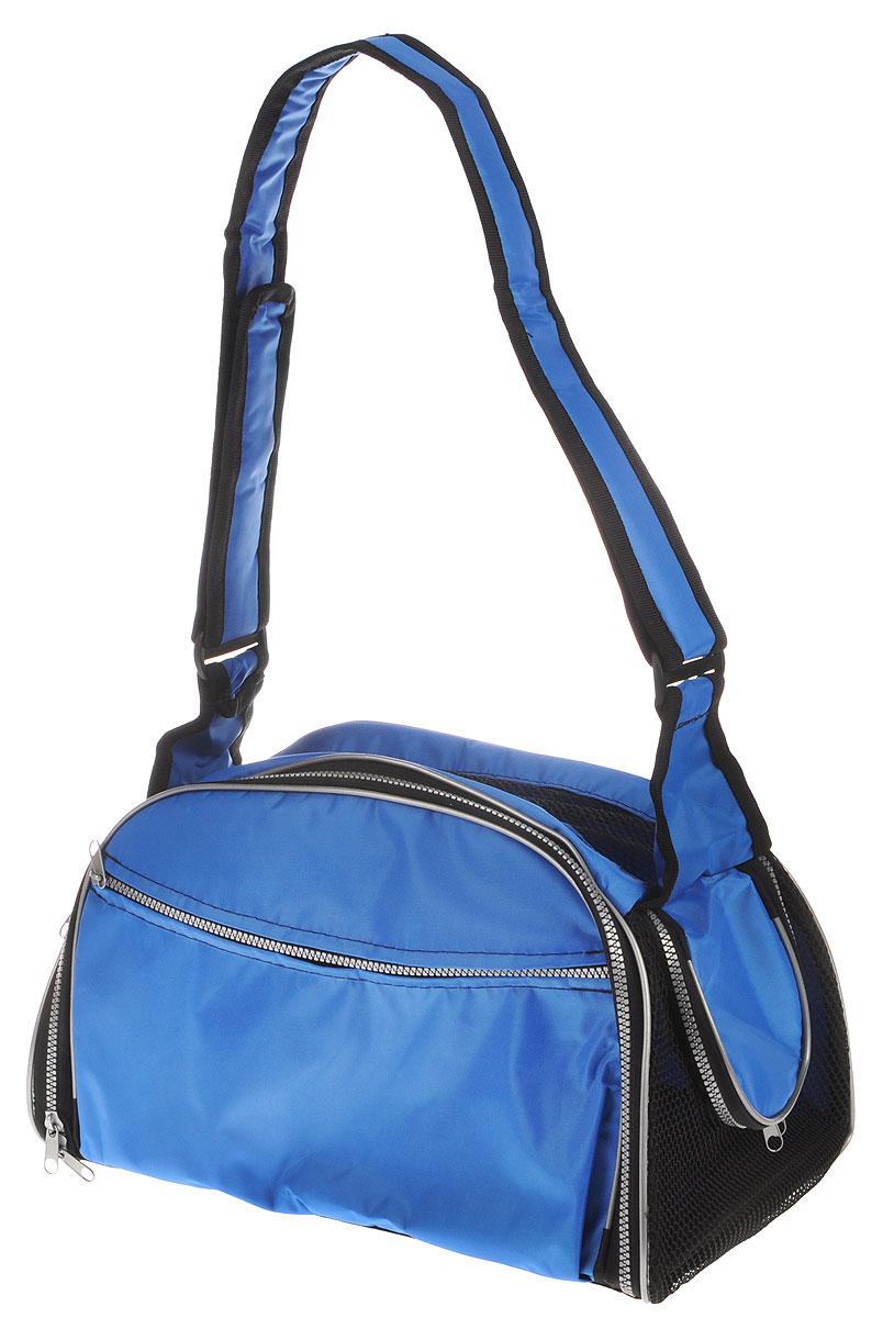 Сумка-переноска для животных Elite Valley, с отверстием для головы, цвет: светло-синий, черный, 40 х 24 х 25 смС-48_светло-синийТекстильная сумка Elite Valley предназначена для собак мелких пород и кошек. Изделие закрывается на застежку- молнию. Для удобной переноски предусмотрена удобная ручка. С внешней стороны имеется два кармана на молнии. Также сумка оснащена отверстием для головы животного, закрывающимся на молнию. Сумка-переноска Elite Valley обязательно понравится вашему домашнемулюбимцу.