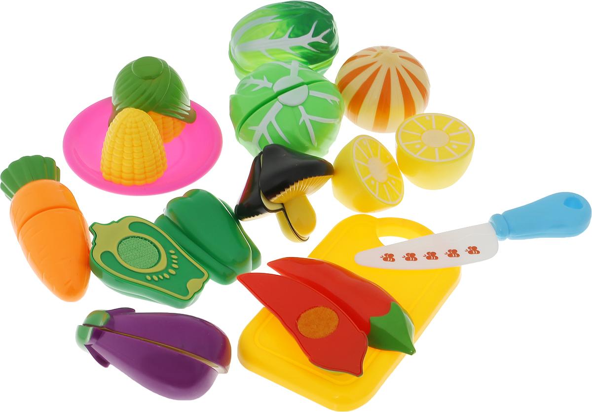 ABtoys Игрушечный набор продуктов цвет доски желтый 13 предметов
