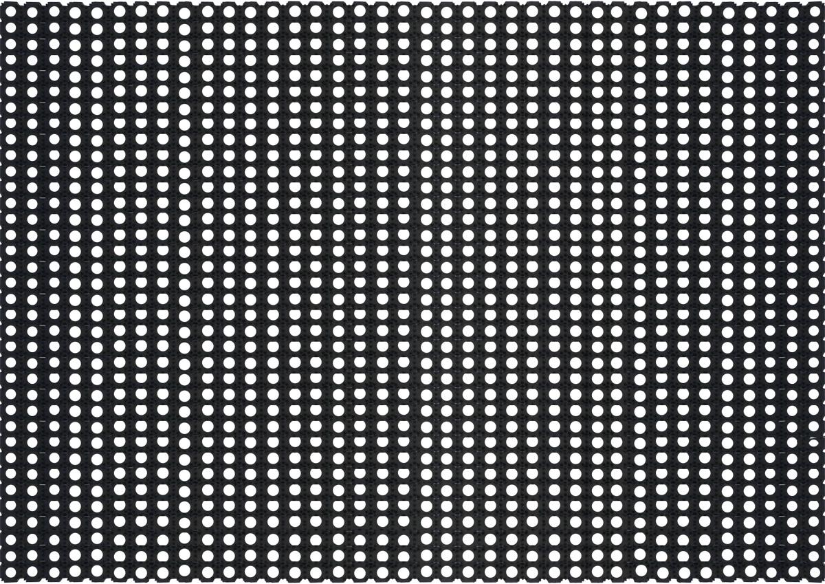 Коврик напольный Sindbad, цвет: черный, 100 х 150 смRHLНапольный ячеистый коврик Sindbad изготовлен из резины высокого качества, поэтому его можно использовать вне помещений при температуре до -35°С. Благодаря своей универсальности может применяться как дома, так и в других различных учреждениях. Коврик имеет сквозные отверстия - ячейки особой формы, что позволяет надежно собирать снег и грязь с обуви и защищать от скольжения.