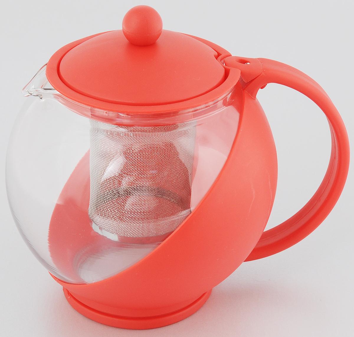 Чайник заварочный Bekker Koch, с фильтром, цвет: красный, 1,25 лBK-301Заварочный чайник Bekker Koch изготовлен из высококачественного пластика и жаропрочного стекла. Чайник имеет металлический фильтр.Чайник оснащен удобной пластиковой ручкой. В нем вы можете приготовить вкусный и ароматный чай. Заварочный чайник Bekker Koch займет достойное место на вашей кухне. Объем: 1,25 л. Высота чайника (без учета крышки): 14 см. Диаметр (по верхнему краю): 9,5 см.