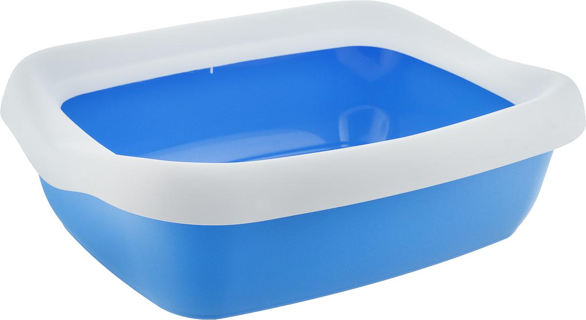Туалет для кошек MPS Beta Maxi, с бортом, цвет: голубой, белый, 49 х 39 х 16 смS08040200_голубой,белыйТуалет для кошек MPS Beta Maxi изготовлен из качественного прочного пластика. Высокий борт, прикрепленный по периметру лотка, удобно защелкивается и предотвращает разбрасывание наполнителя. Это самый простой в употреблении предмет обихода для кошек и котов.