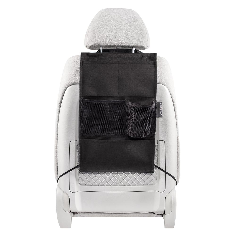 Органайзер Много Везу, на спинку сиденья , 49 х 30 см. М 113М 113- Жесткий верхний каркас - Универсальный размер - 5 карманов Удобный и вместительный органайзер помогает компактно разместить множество различных вещей в салоне автомобиля. Жесткий верхний каркас позволяет всегда держать форму органайзера, а универсальный размер подойдет на сиденье любого автомобиля. Размеры: ширина —30 см, высота — 49 см Материал: спанбонд (плотность 100 гр/м2), прочная сетка Цвет: черный