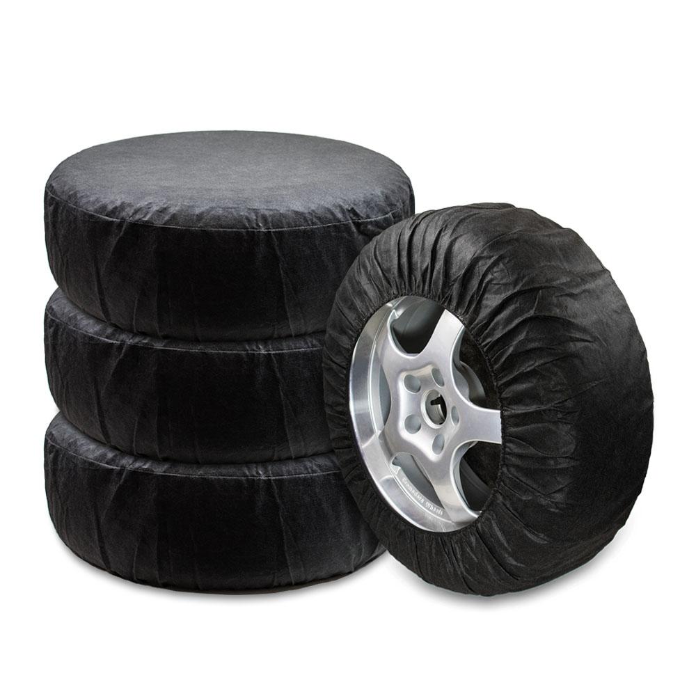 Чехлы для хранения автомобильных колес Много Везу, 13-16 , 68 х 30 см. М 121М 121-Комплект на 4 колеса . -Подходит к колёсам 13-16. - Плотно облегают колесо. - Одеваются за 20 секунд. - Чехлы изготовлены из нетканного материала спанбонд. Спанбонд отлично пропускает воздух, а значит, шины не будут преть, а диски ржаветь или окисляться. -Диаметр колеса не должен превышать 68 см. Размеры: ширина —30 см, высота — 68 см Материал: спанбонд (плотность 100 гр/м2) Цвет: черный