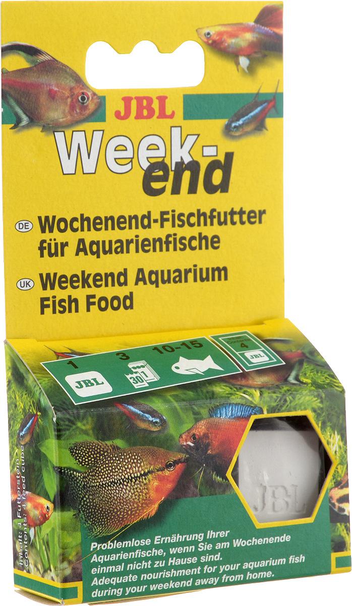 Корм JBL Weekend для рыб, брикет, 4 штJBL4032000Корм JBL Weekend предназначен для решения проблемы кормления аквариумных рыб во время вашего отсутствия в доме. корм содержит все компоненты, важные для для здорового питания рыб. Одного брикета хватает на 4 дня. Состав: зерновые, рыба и рыбные продукты, растительные продукты, дрожжи, водоросли, животные продукты. Товар сертифицирован.