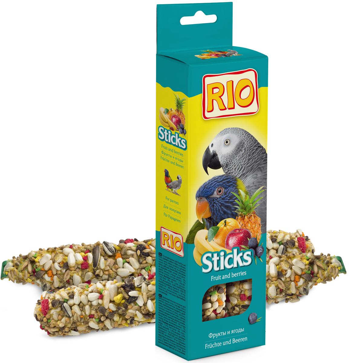 Палочки для попугаев Rio, с фруктами и я годами, 2х75 г56824Лакомство для попугаев с фруктами и ягодами. Дополнительное питание для декоративных птиц.