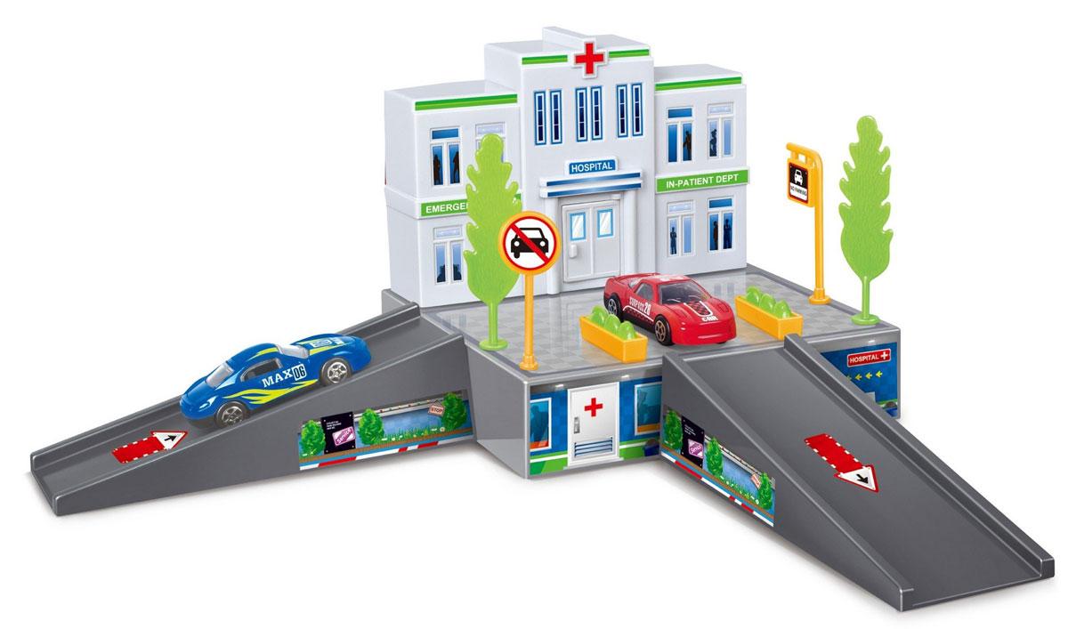 Dave Toy Игровой набор Больница32016Парковка Dave Toy Больница - это многофункциональный набор, который служит как развивающим, так и развлекательным целям. Просторная больница ждет посетителей: нужно только провести дорогу, чтобы машина с пациентом смогла доехать до приемного покоя. Рядом с больницей растут деревья, установлены дорожные знаки и цветочные клумбы. На платформы, по которым поедет машина, нанесена разметка, показывающая направление движения. Ребенку потребуется собрать все элементы и построить больницу с прилегающей к ней дорогой. Играя с набором, ребенок разовьет пространственное мышление и аккуратность, узнает о дорожных знаках, получит начальные знания о работе больницы и сможет придумать множество сюжетных игр.