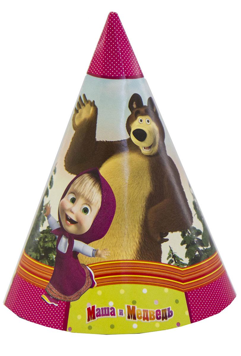 Веселая затея Колпак Маша и Медведь 6 шт