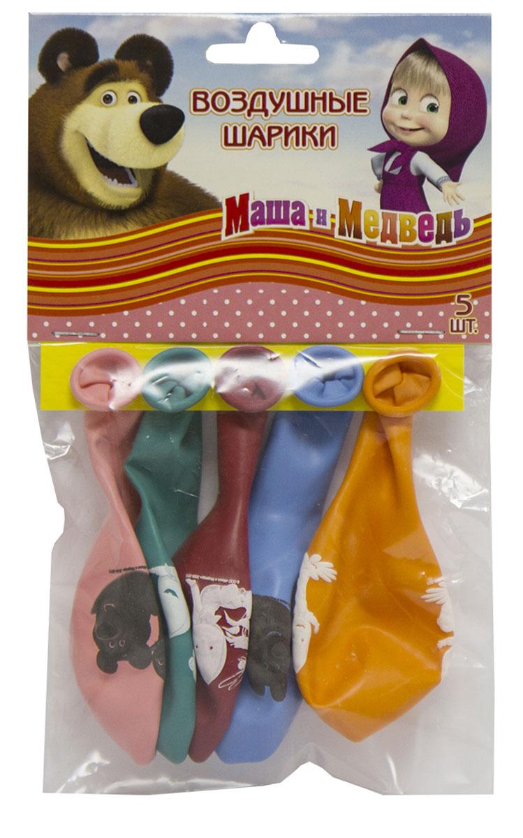 Маша и Медведь Набор воздушных шаров 5 шт1111-0637Набор воздушных шаров Маша и Медведь - любимая тематика и герои любимого мультфильма на легком и ярком дополнении к празднику, без которого нельзя обойтись. Высококачественный латекс позволит надуть большие шарики и, при этом, не принесет беспокойства за то, что они лопнут и напугают ребенка. Веселый праздничный набор, который порадует каждого.