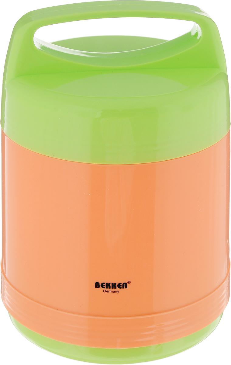 Термос Bekker Koch, с контейнерами, 1 лBK-4018Пищевой термос с широким горлом Bekker Koch, изготовленный из высококачественного пластика, является простым в использовании, экономичным и многофункциональным. Изделие оснащено двумя контейнерами. Термос с широким горлом предназначен для хранения горячей и холодной пищи, замороженных продуктов, мороженного, фруктов и льда. Благодаря стеклянной колбе, легкий и прочный термос Bekker Koch сохранит ваши напитки и продукты горячими или холодными надолго. Высота (с учетом крышки): 21 см. Диаметр контейнеров: 10,5 см. Высота контейнеров: 3,5 см; 10,5 см. Объем контейнеров: 200 мл; 750 мл.