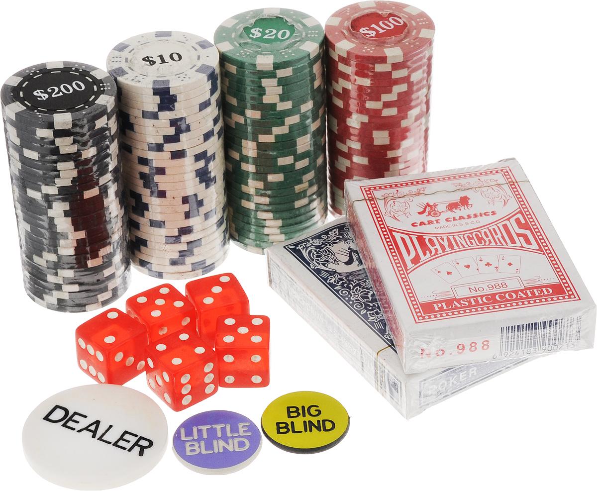 Игра настольная Эврика Покер92128Карточная настольная игра Эврика Покер разнообразит ваш досуг. Набор расположен в компактном кейсе с ручкой, который закрывается на ключ, это сделает его хранение и транспортировку более удобной. Помимо карт и кубиков в комплекте есть фишки разной раскраски, что позволит легко делать ставки и подсчитывать выигрыш. Игра в покер станет отличным вариантом для времяпровождения с друзьями, а благодаря оригинальному дизайну упаковки и отменным подарком.