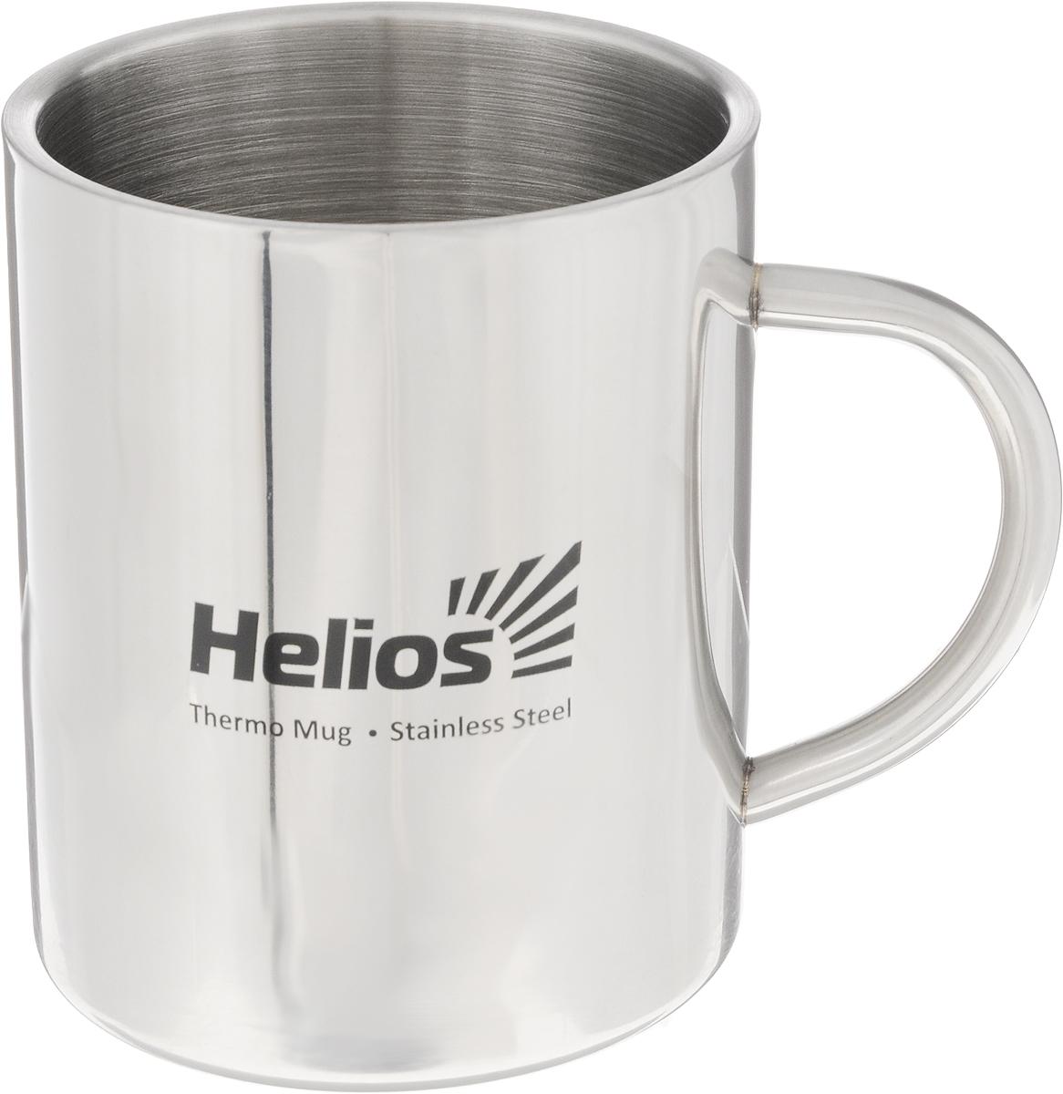 Термокружка Helios HS TK-010, 450 мл128987Термокружка Helios HS TK-010 предназначена специально для горячих и холодных напитков. Она изготовлена из высококачественной нержавеющей стали. Двойная стенка гарантирует долгое сохранение температуры и убережет от ожогов при заваривании чая или кофе. Такая кружка прекрасно сохраняет свою целостность и первозданный вид даже при многократном использовании. Диаметр кружки (по верхнему краю): 8,5 см. Высота кружки: 10,5 см.