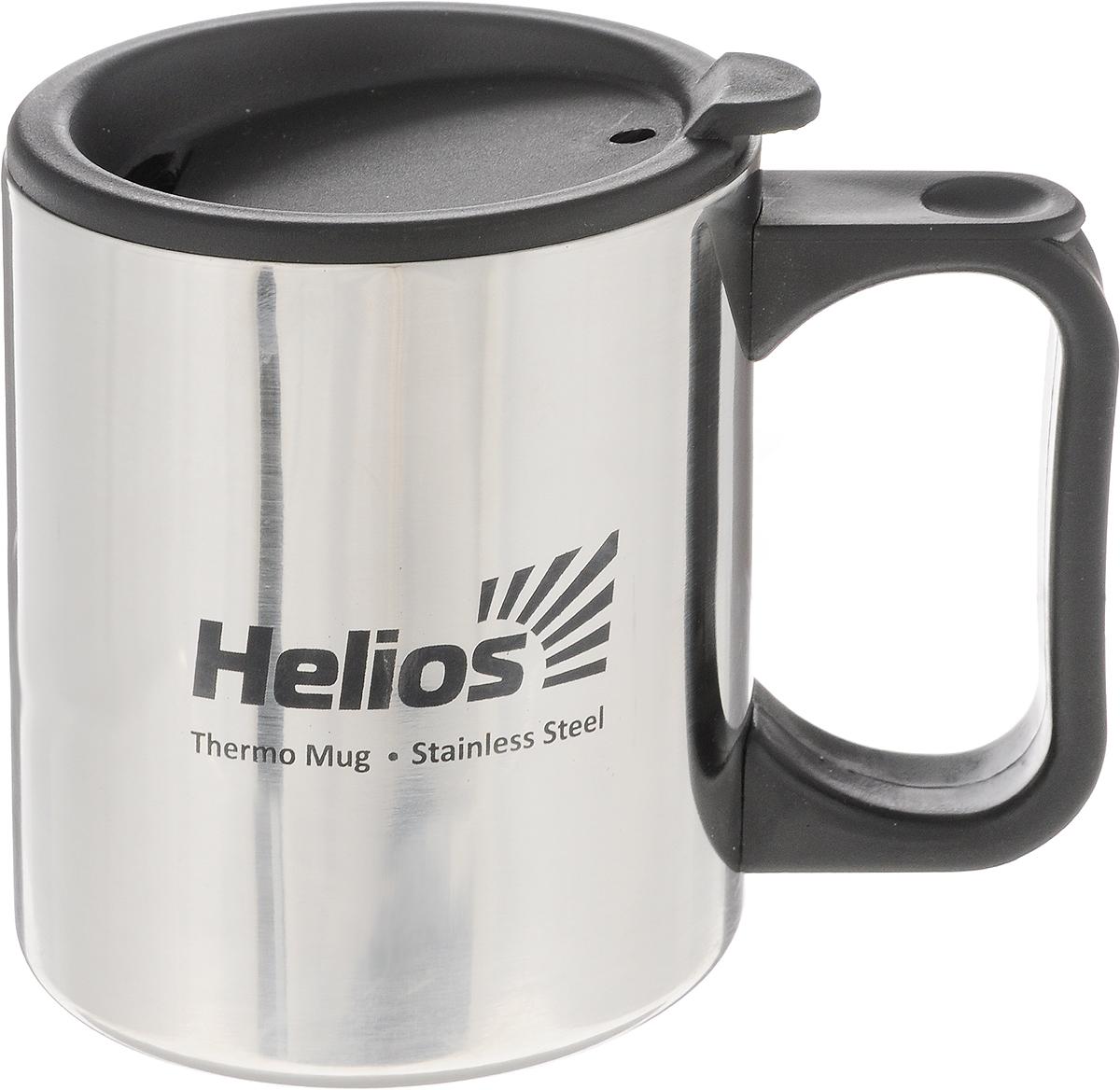Термокружка Helios HS TK-006, с крышкой-поилкой, 300 мл128983Термокружка Helios HS TK-006 предназначена специально для горячих и холодных напитков. Она изготовлена из высококачественной нержавеющей стали. Двойная стенка гарантирует долгое сохранение температуры и убережет от ожогов при заваривании чая или кофе. Крышка-поилка из термостойкого пластика предохраняет от проливания и не дает напитку остыть. Такая кружка прекрасно сохраняет свою целостность и первозданный вид даже при многократном использовании. Диаметр кружки (по верхнему краю): 7,8 см. Высота кружки (без учета крышки): 9 см.