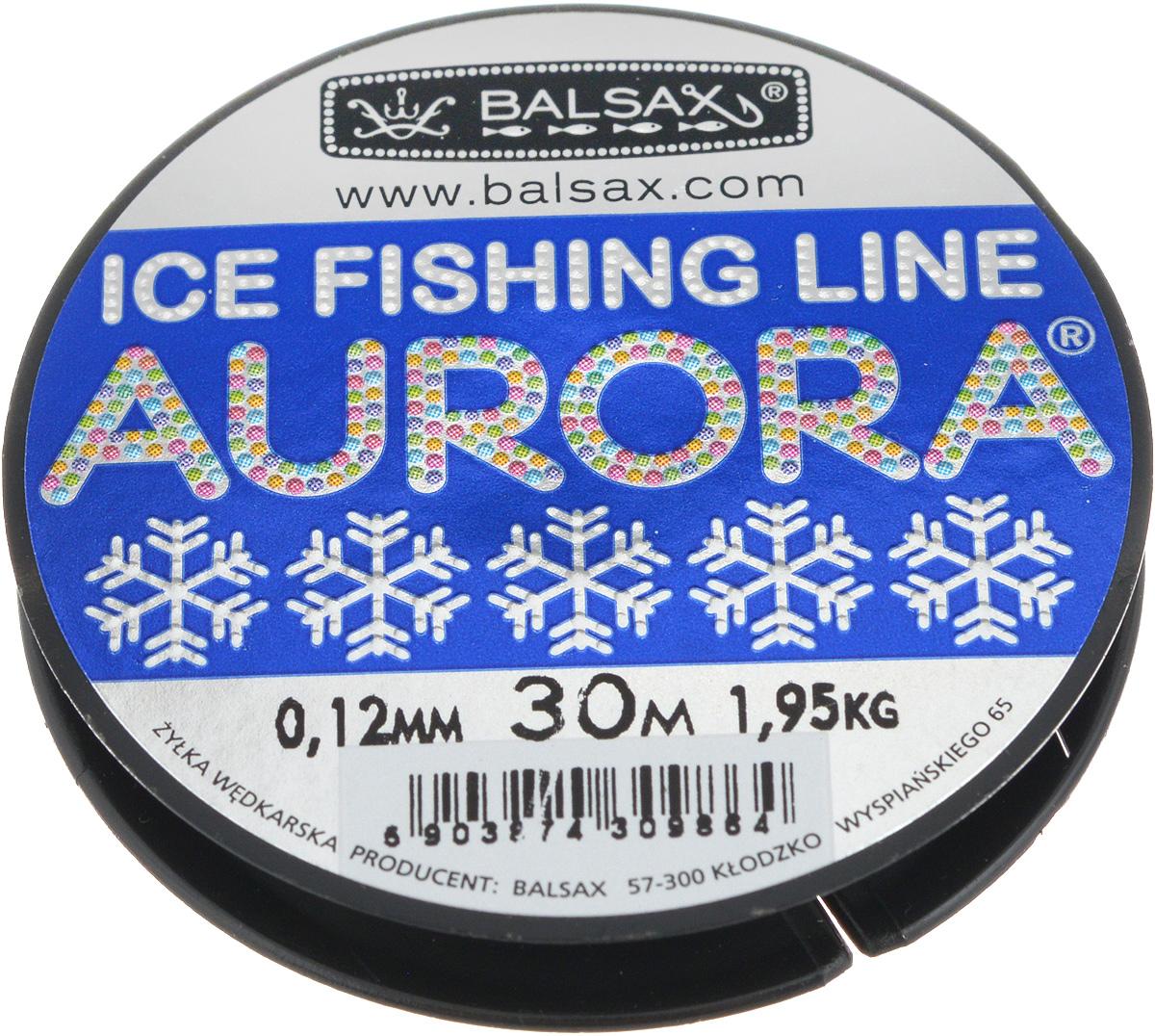 Леска зимняя Balsax Aurora, 30 м, 0,12 мм, 1,95 кг310-04012Леска Balsax Aurora изготовлена из 100% нейлона и очень хорошо выдерживает низкие температуры. Даже в самом холодном климате, при температуре вплоть до -40°C, она сохраняет свои свойства практически без изменений, в то время как традиционные лески становятся менее эластичными и теряют прочность. Поверхность лески обработана таким образом, что она не обмерзает и отлично подходит для подледного лова. Прочна в местах вязки узлов даже при минимальном диаметре.