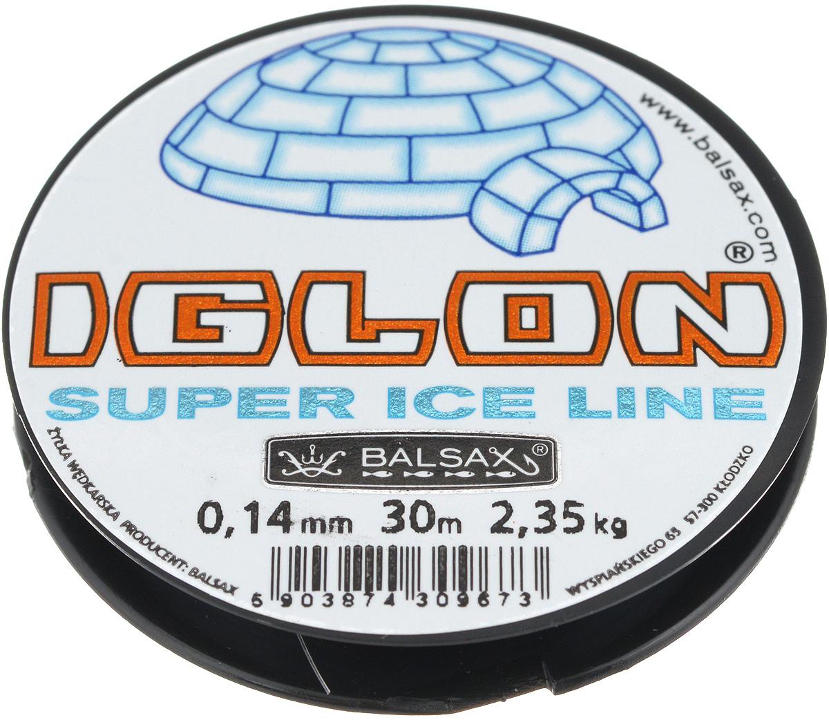 Леска зимняя Balsax Iglon, 30 м, 0,14 мм, 2,35 кг312-06014Леска Balsax Iglon изготовлена из 100% нейлона и очень хорошо выдерживает низкие температуры. Даже в самом холодном климате, при температуре вплоть до -40°C, она сохраняет свои свойства практически без изменений, в то время как традиционные лески становятся менее эластичными и теряют прочность. Поверхность лески обработана таким образом, что она не обмерзает и отлично подходит для подледного лова. Прочна в местах вязки узлов даже при минимальном диаметре.