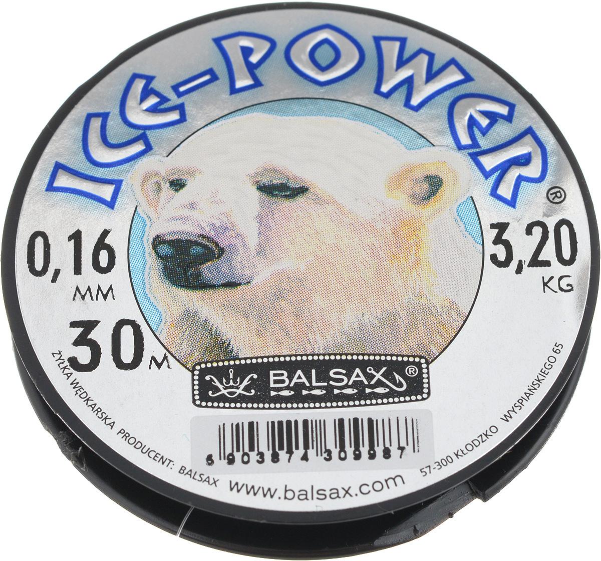 Леска зимняя Balsax Ice Power, 30 м, 0,16 мм, 3,2 кг310-05016Леска Balsax Ice Power изготовлена из 100% нейлона и очень хорошо выдерживает низкие температуры. Даже в самом холодном климате, при температуре вплоть до -40°C, она сохраняет свои свойства практически без изменений, в то время как традиционные лески становятся менее эластичными и теряют прочность. Поверхность лески обработана таким образом, что она не обмерзает и отлично подходит для подледного лова. Прочна в местах вязки узлов даже при минимальном диаметре.