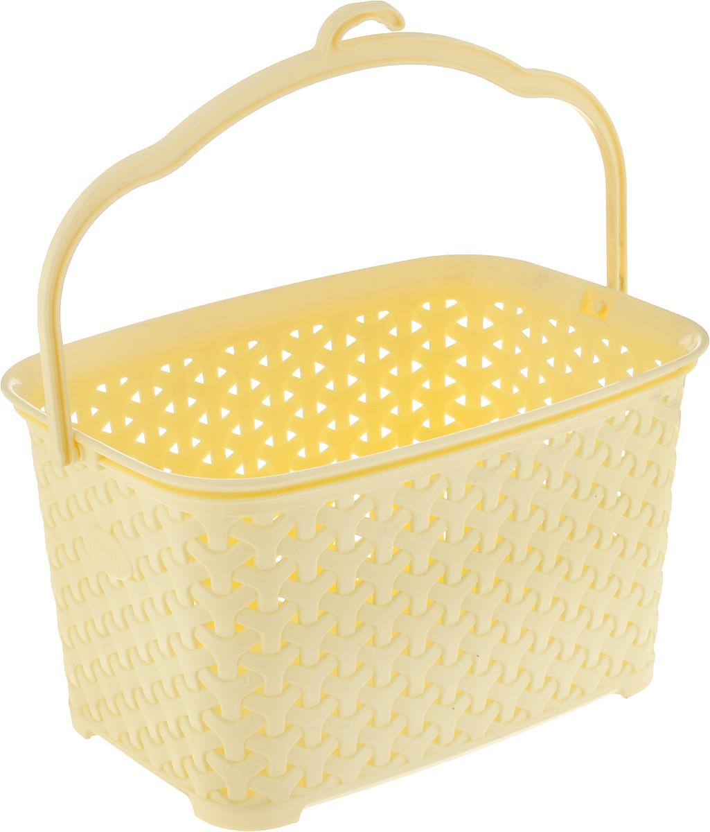 Корзина для прищепок Magnolia Home, цвет: светло-желтый, 3 лК0785_желтыйКорзина Magnolia Home, выполненная из высококачественного полипропилена, оснащена удобной ручкой для переноски. Изделие предназначено для хранения прищепок и прочих хозяйственных мелочей. Боковые стенки корзины оформлены перфорацией. Элегантный выдержанный дизайн позволяет ей органично вписаться в ваш интерьер и стать его элементом. Размер корзины: 22 х 15,5 х 12,5 см. Высота с учетом ручки: 24 см.