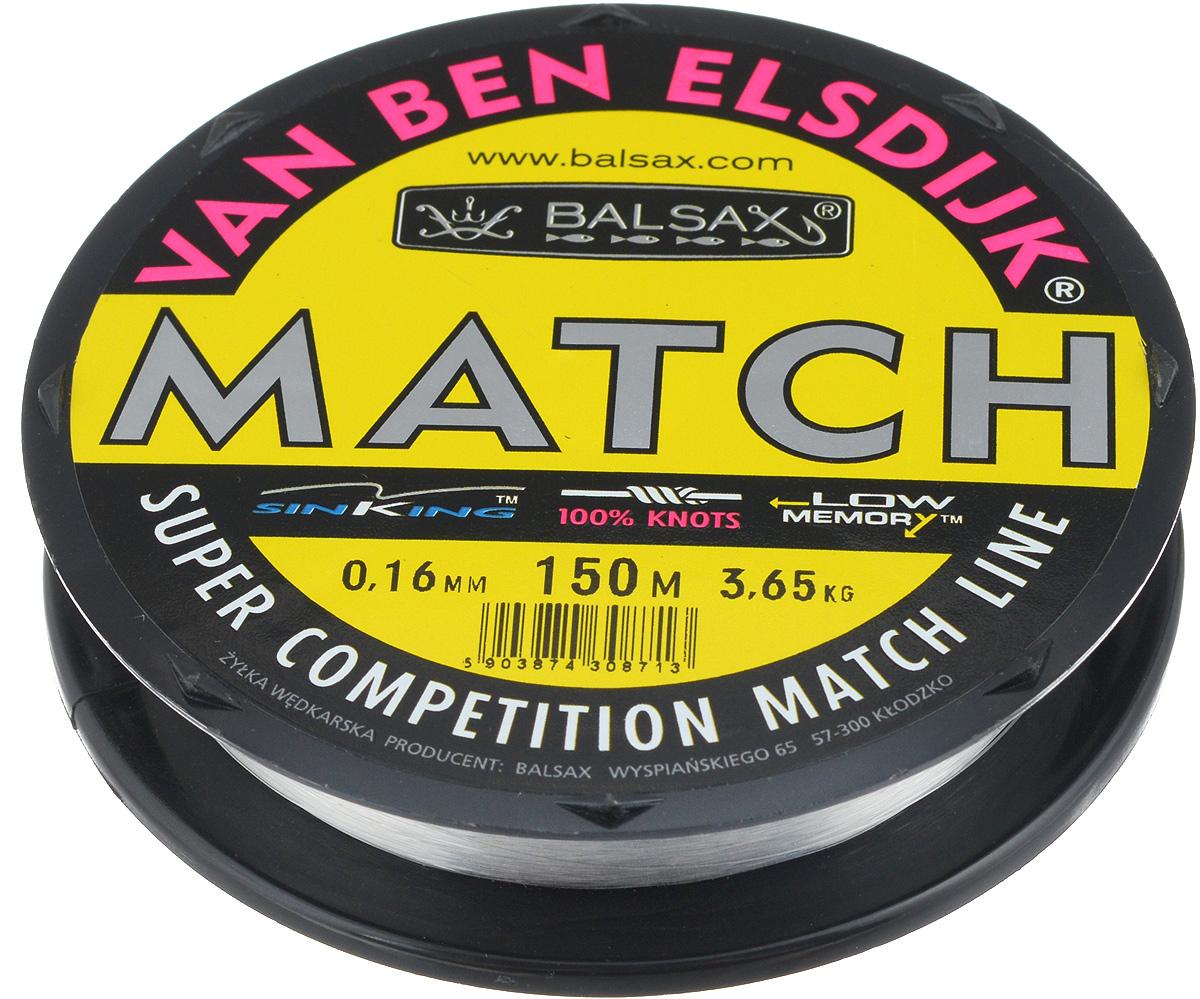 Леска Balsax Match VBE, 150 м, 0,16 мм, 3,65 кг304-10016Опытным спортсменам, участвующим в соревнованиях, нужна надежная леска, в которой можно быть уверенным в любой ситуации. Леска Balsax Match VBE отличается замечательной прочностью на узле и высокой сопротивляемостью к истиранию. Она была проверена на склонность к остаточным деформациям, чтобы убедиться в том, что она обладает наиболее подходящей растяжимостью, отвечая самым строгим требованиям рыболовов. Такая леска отлично подходит как для спортивного, так и для любительского рыболовства.