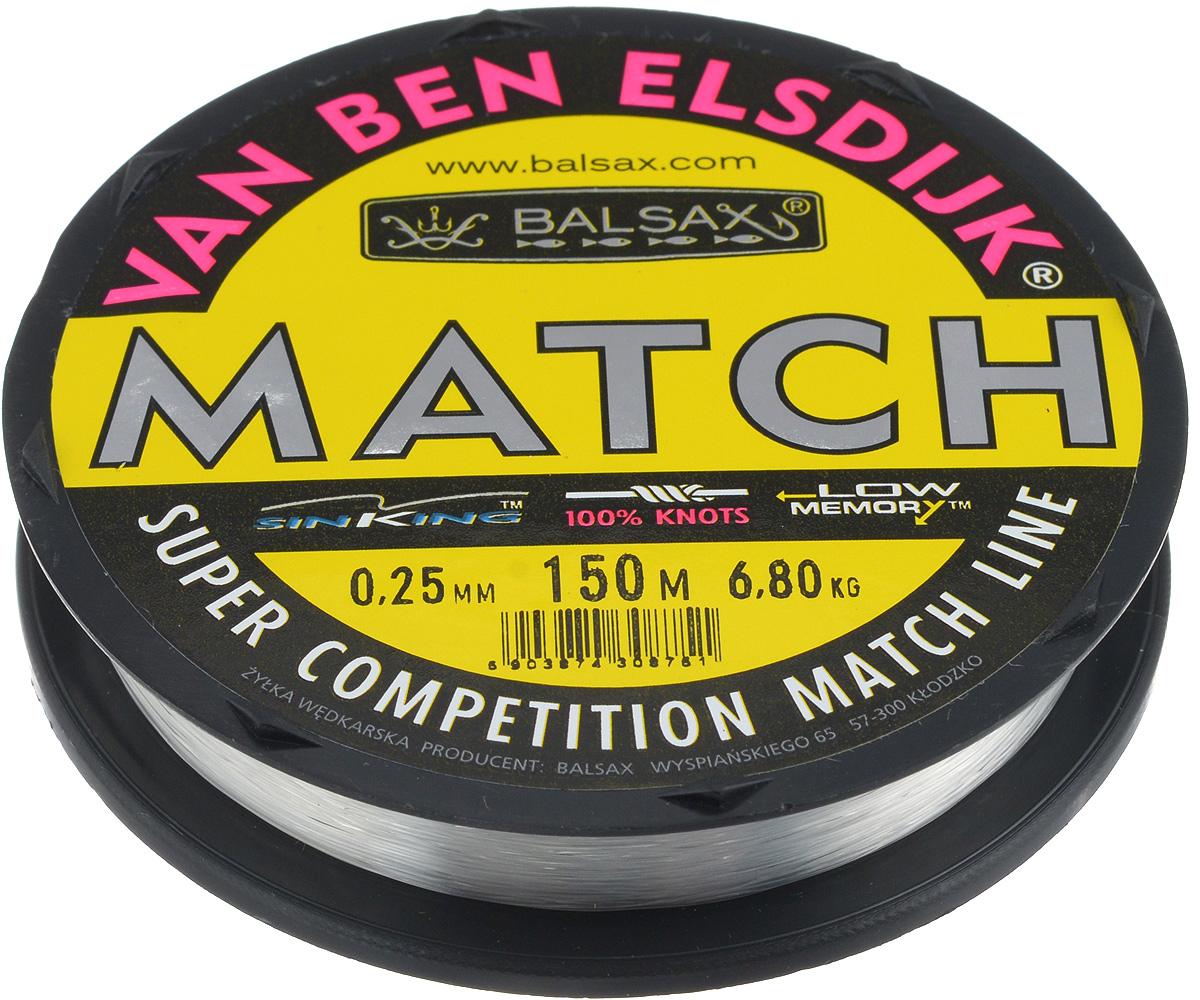 Леска Balsax Match VBE, 150 м, 0,25 мм, 6,8 кг304-10025Опытным спортсменам, участвующим в соревнованиях, нужна надежная леска, в которой можно быть уверенным в любой ситуации. Леска Balsax Match VBE отличается замечательной прочностью на узле и высокой сопротивляемостью к истиранию. Она была проверена на склонность к остаточным деформациям, чтобы убедиться в том, что она обладает наиболее подходящей растяжимостью, отвечая самым строгим требованиям рыболовов. Такая леска отлично подходит как для спортивного, так и для любительского рыболовства.