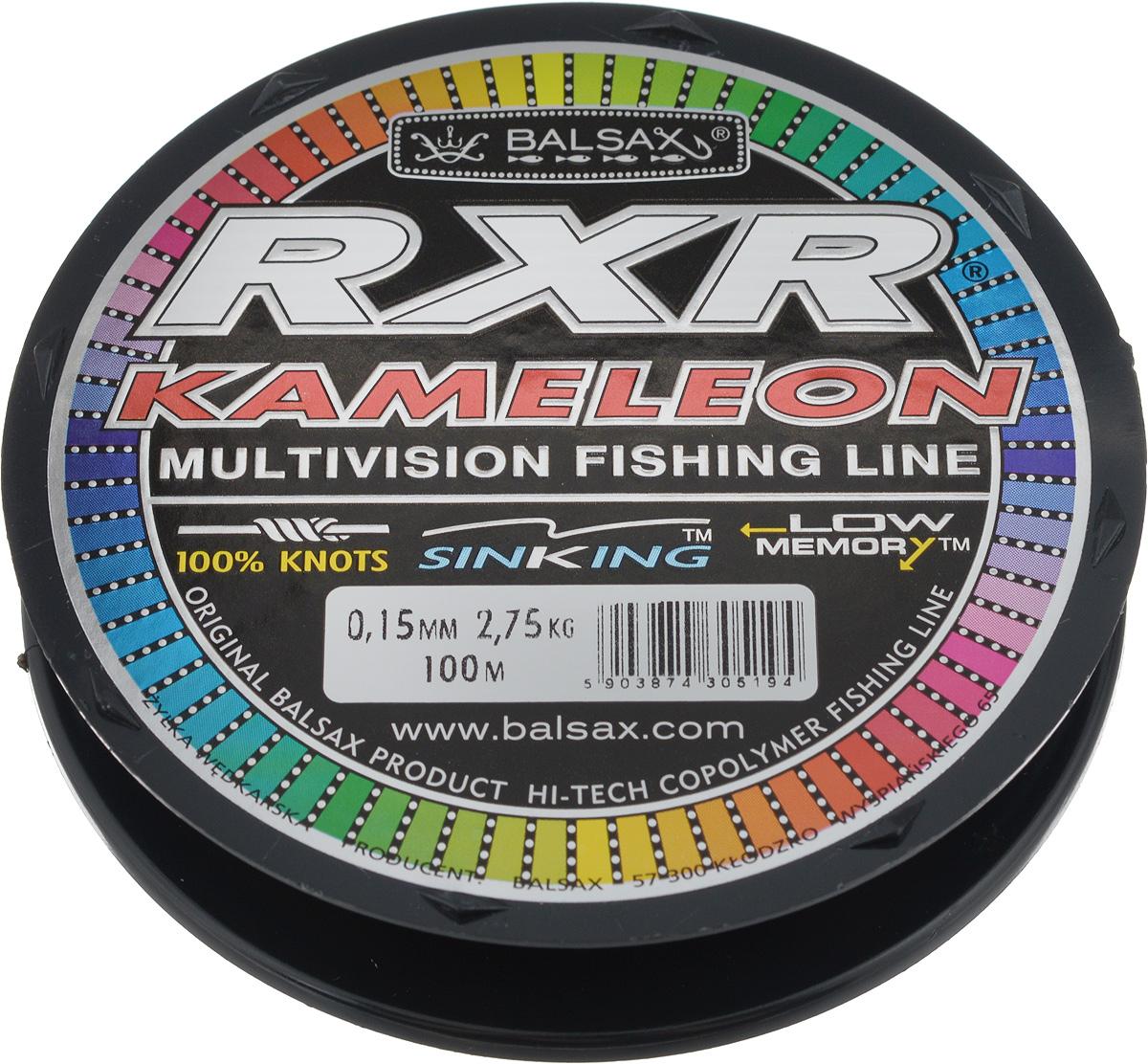 Леска Balsax RXR Kameleon, 100 м, 0,15 мм, 2,75 кг304-07015Леска последнего поколения Balsax RXR Kameleon выполнена из 100% нейлона и не боится истирания. Благодаря особым условиям производства, она способна изменять цвет, приспосабливаясь к внешним условиям. Тесты показали, что такая леска отличается высокой прочностью при растяжении и прочностью в местах вязки узлов. Она не меняет форму и не скручивается. Леска Balsax RXR Kameleon позволяет надежнее засечь рыбу и дает возможность чувствовать каждое движение приманки.