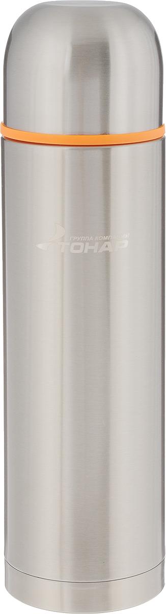 Термос Тонар HS TM-022, с чашей, 1,2 л149734Термос Тонар HS TM-022 выполнен из нержавеющей стали и оснащен двойными стенками с вакуумной изоляцией, которая позволяет сохранять напитки горячими или холодными длительное время. Отлично сохраняет температуру, свежесть напитка и его оригинальный вкус. Дополнительная теплоизоляция внутри пробки. Пробка без кнопки надежно закрывает колбу и проста в использовании. Крышка может послужить вместительной чашкой, также в комплект входят дополнительная чаша и инструкция по эксплуатации. Термос сохраняет тепло до 12 часов и удерживает холод до 24 часов. Диаметр горлышка: 5 см. Диаметр основания: 8,8 см. Высота (с учетом крышки): 32,5 см. Размер крышки: 9 х 9 х 7 см. Размер чаши: 8 х 8 х 5 см.