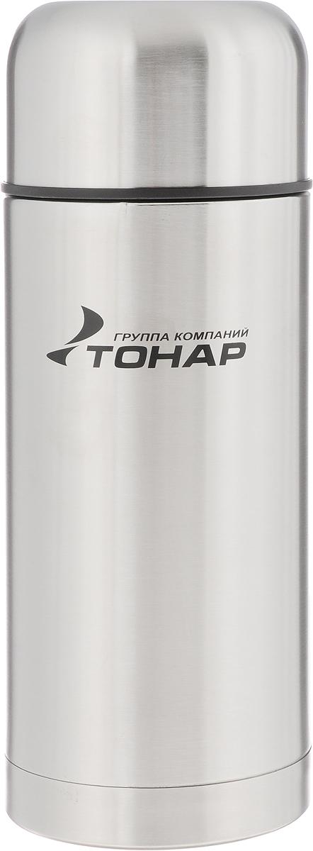 Термос Тонар HS TM-019, с чехлом, 1,2 л149737Термос Тонар HS TM-019 - универсальная модель, оснащенная двойными стенками с вакуумной изоляцией, которая позволяет сохранять напитки горячими или холодными длительное время. Корпус изготовлен из высококачественной нержавеющей стали. Широкое горло позволяет использовать термос для первых и вторых блюд. Термос оснащен глухой крышкой-пробкой, которая предотвращает проливание, а кнопка служит для спуска пара. Крышку можно использовать как чашку. В комплект входят удобный чехол для хранения и переноски термоса, инструкция по эксплуатации. Стильный металлический термос понравится абсолютно всем и впишется в любой интерьер кухни. Диаметр горлышка: 8 см. Диаметр основания термоса: 10 см. Размер крышки-чаши: 10,3 х 10,3 х 6 см. Высота термоса (с учетом крышки): 27 см.