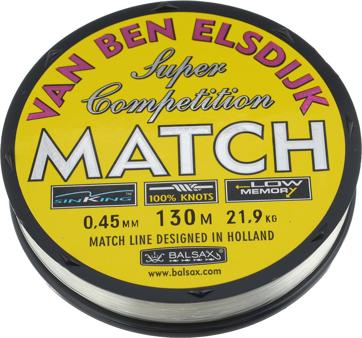 Леска Balsax Match VBE, 130 м, 0,45 мм, 21,9 кг304-10045Опытным спортсменам, участвующим в соревнованиях, нужна надежная леска, в которой можно быть уверенным в любой ситуации. Леска Balsax Match VBE отличается замечательной прочностью на узле и высокой сопротивляемостью к истиранию. Она была проверена на склонность к остаточным деформациям, чтобы убедиться в том, что она обладает наиболее подходящей растяжимостью, отвечая самым строгим требованиям рыболовов. Такая леска отлично подходит как для спортивного, так и для любительского рыболовства.