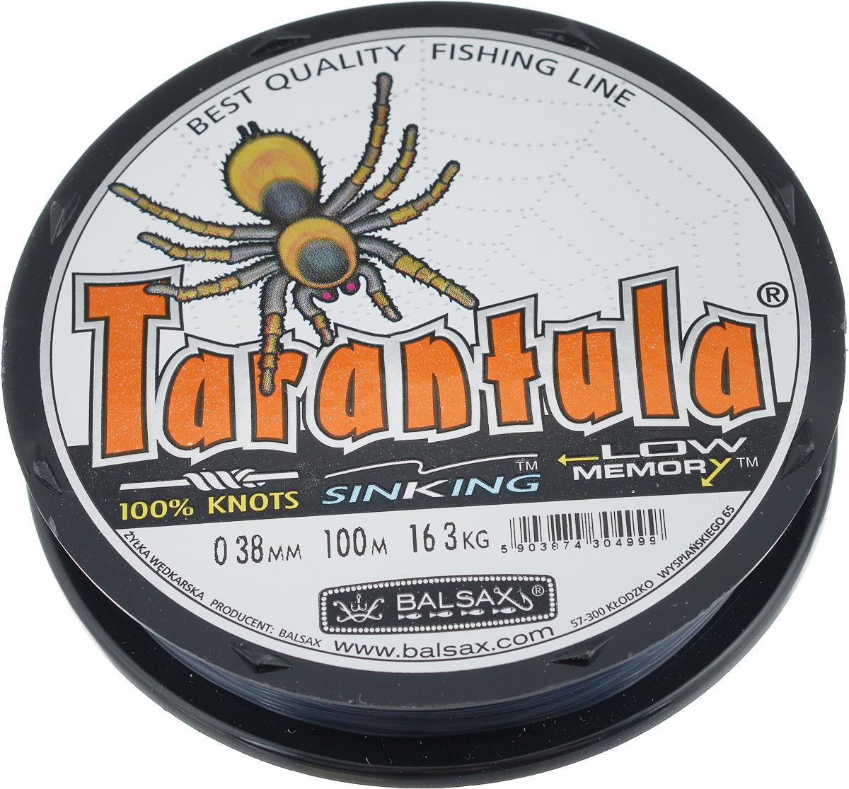 Леска Balsax Tarantula, 100 м, 0,38 мм, 16,3 кг314-07038Леска Balsax Tarantula выполнена из нейлоновой рибозы с покрытием из тефлона. Новая молекулярная структура лески отличается повышенной сопротивляемостью к разрыву, но при этом она способна и растягиваться. Растяжимость в случае применения этой лески является отличным достоинством, особенно во время энергичной борьбы с рыбой, как амортизатор защищая оснастку от обрыва.