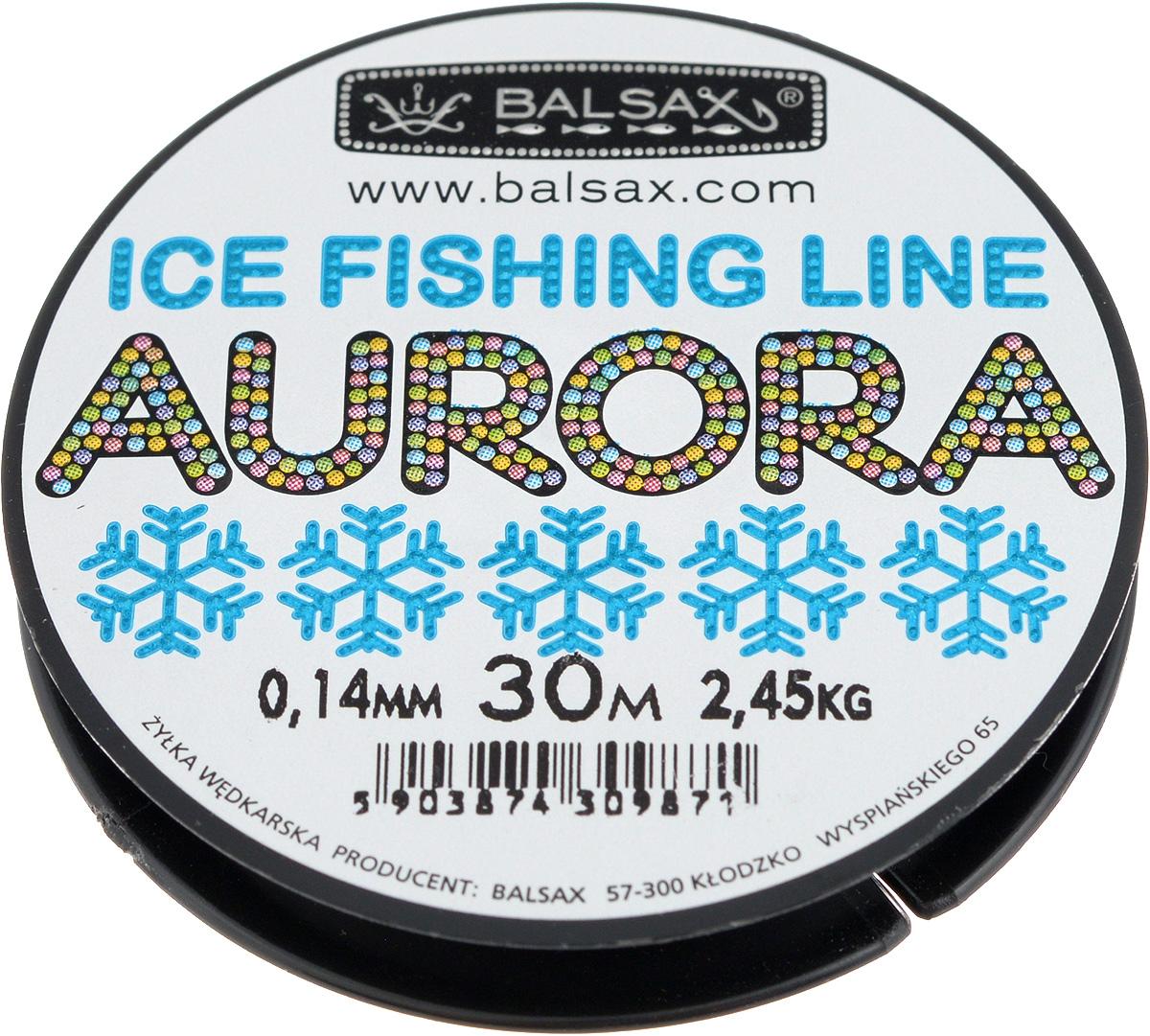 Леска зимняя Balsax Aurora, 30 м, 0,14 мм, 2,45 кг310-04014Леска Balsax Aurora изготовлена из 100% нейлона и очень хорошо выдерживает низкие температуры. Даже в самом холодном климате, при температуре вплоть до -40°C, она сохраняет свои свойства практически без изменений, в то время как традиционные лески становятся менее эластичными и теряют прочность. Поверхность лески обработана таким образом, что она не обмерзает и отлично подходит для подледного лова. Прочна в местах вязки узлов даже при минимальном диаметре.