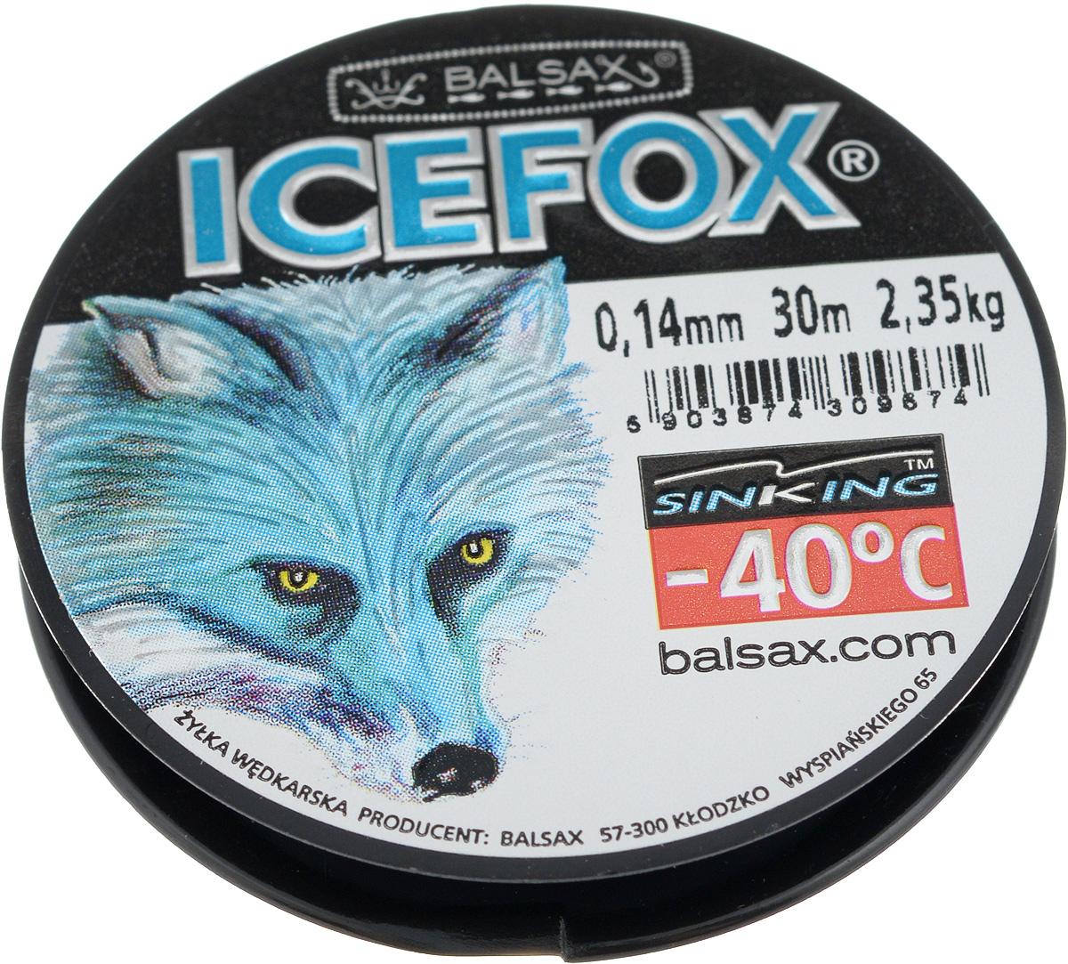 Леска зимняя Balsax Ice Fox, 30 м, 0,14 мм, 2,35 кг310-07014Леска Balsax Ice Fox изготовлена из 100% нейлона и очень хорошо выдерживает низкие температуры. Даже в самом холодном климате, при температуре вплоть до -40°C, она сохраняет свои свойства практически без изменений, в то время как традиционные лески становятся менее эластичными и теряют прочность. Поверхность лески обработана таким образом, что она не обмерзает и отлично подходит для подледного лова. Прочна в местах вязки узлов даже при минимальном диаметре.