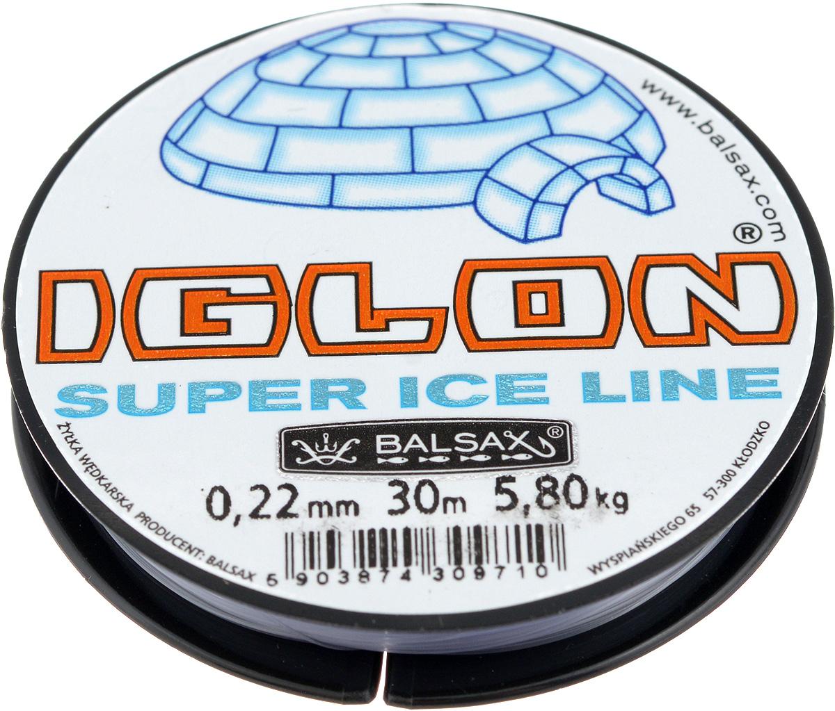 Леска зимняя Balsax Iglon, 30 м, 0,22 мм, 5,8 кг312-06022Леска Balsax Iglon изготовлена из 100% нейлона и очень хорошо выдерживает низкие температуры. Даже в самом холодном климате, при температуре вплоть до -40°C, она сохраняет свои свойства практически без изменений, в то время как традиционные лески становятся менее эластичными и теряют прочность. Поверхность лески обработана таким образом, что она не обмерзает и отлично подходит для подледного лова. Прочна в местах вязки узлов даже при минимальном диаметре.