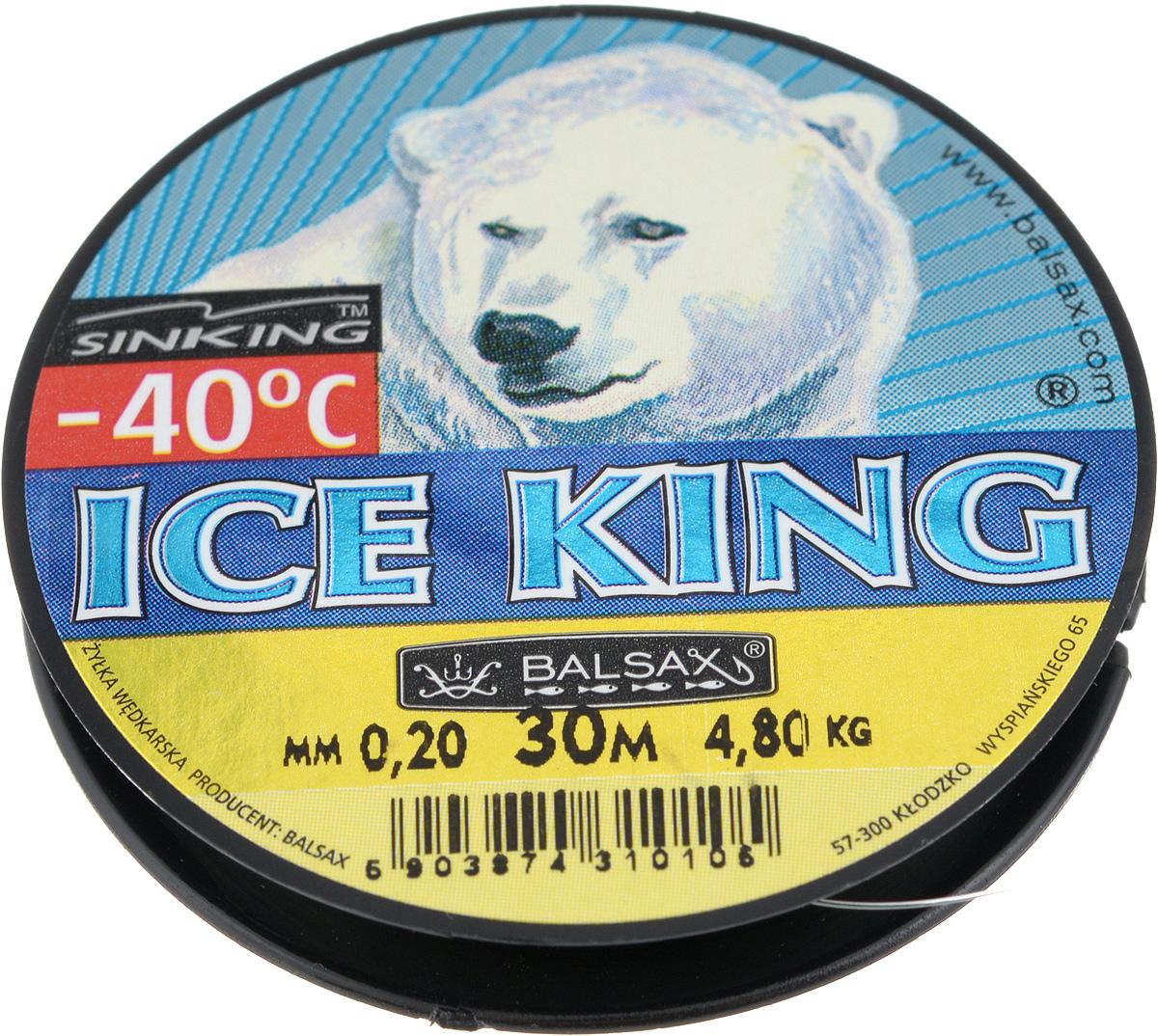 Леска зимняя Balsax Ice King, 30 м, 0,20 мм, 4,8 кг310-08020Леска Balsax Ice King изготовлена из 100% нейлона и очень хорошо выдерживает низкие температуры. Даже в самом холодном климате, при температуре вплоть до -40°C, она сохраняет свои свойства практически без изменений, в то время как традиционные лески становятся менее эластичными и теряют прочность. Поверхность лески обработана таким образом, что она не обмерзает и отлично подходит для подледного лова. Прочна в местах вязки узлов даже при минимальном диаметре.