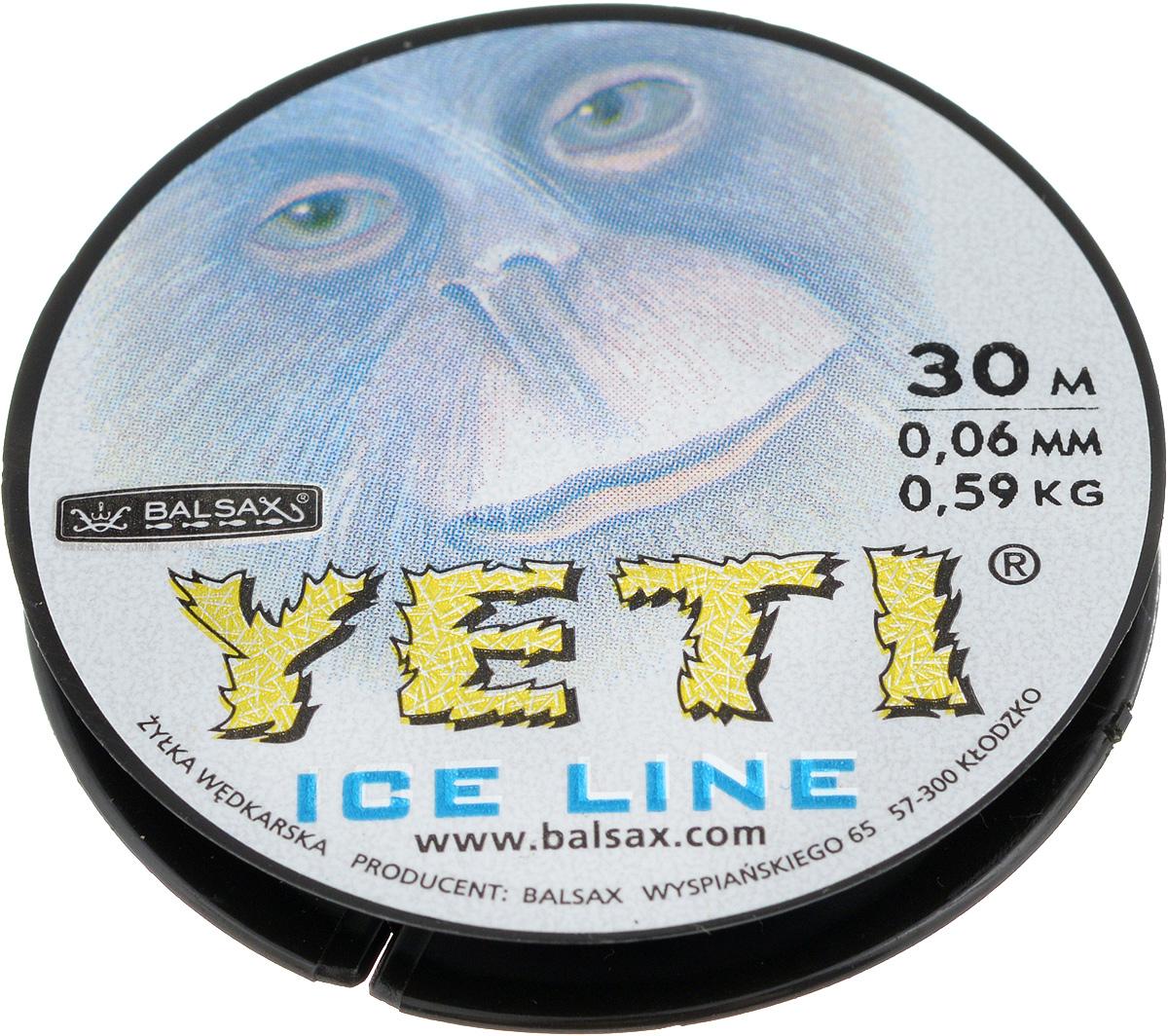 Леска зимняя Balsax Yeti, 30 м, 0,06 мм, 0,59 кг310-14006Леска Balsax Yeti изготовлена из 100% нейлона и очень хорошо выдерживает низкие температуры. Даже в самом холодном климате, при температуре вплоть до -40°C, она сохраняет свои свойства практически без изменений, в то время как традиционные лески становятся менее эластичными и теряют прочность. Поверхность лески обработана таким образом, что она не обмерзает и отлично подходит для подледного лова. Прочна в местах вязки узлов даже при минимальном диаметре.