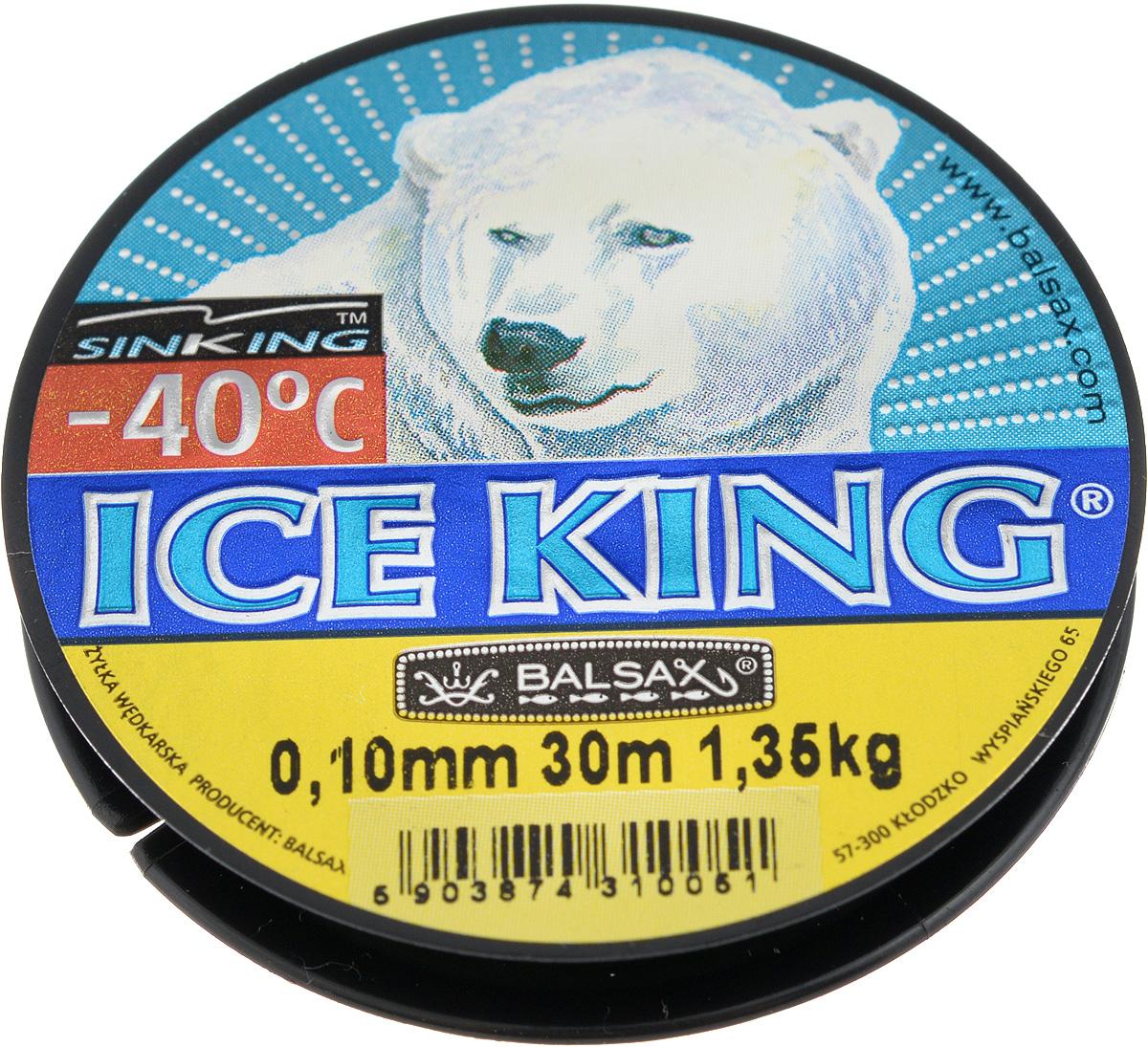 Леска зимняя Balsax Ice King, 30 м, 0,10 мм, 1,35 кг310-08010Леска Balsax Ice King изготовлена из 100% нейлона и очень хорошо выдерживает низкие температуры. Даже в самом холодном климате, при температуре вплоть до -40°C, она сохраняет свои свойства практически без изменений, в то время как традиционные лески становятся менее эластичными и теряют прочность. Поверхность лески обработана таким образом, что она не обмерзает и отлично подходит для подледного лова. Прочна в местах вязки узлов даже при минимальном диаметре.