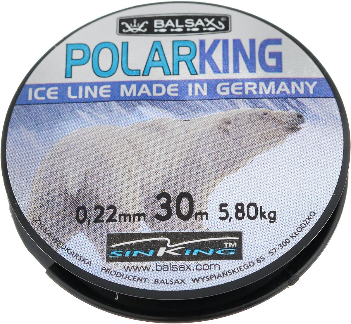 Леска зимняя Balsax Polar King, 30 м, 0,22 мм, 5,8 кг310-13022Леска Balsax Polar King изготовлена из 100% нейлона и очень хорошо выдерживает низкие температуры. Даже в самом холодном климате, при температуре вплоть до -40°C, она сохраняет свои свойства практически без изменений, в то время как традиционные лески становятся менее эластичными и теряют прочность. Поверхность лески обработана таким образом, что она не обмерзает и отлично подходит для подледного лова. Прочна в местах вязки узлов даже при минимальном диаметре.
