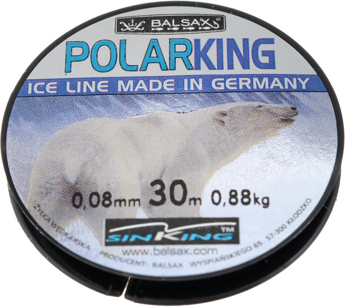 Леска зимняя Balsax Polar King, 30 м, 0,08 мм, 0,88 кг310-13008Леска Balsax Polar King изготовлена из 100% нейлона и очень хорошо выдерживает низкие температуры. Даже в самом холодном климате, при температуре вплоть до -40°C, она сохраняет свои свойства практически без изменений, в то время как традиционные лески становятся менее эластичными и теряют прочность. Поверхность лески обработана таким образом, что она не обмерзает и отлично подходит для подледного лова. Прочна в местах вязки узлов даже при минимальном диаметре.
