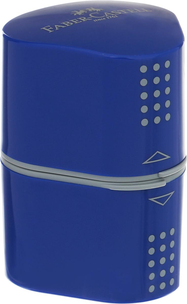 Faber-Castell Точилка Trio Grip 2001 цвет синий183801Точилка Faber-Castell Trio Grip 2001 подходит для стандартных, трехгранных, цветных и толстых карандашей типа Jumbo. Точилка имеет емкость для стружек с обеих сторон. Точилка затачивает карандаши остро, не ломает, ее удобно держать в руках. Легко открывается и плотно защелкивается. Изготовлена точилка из качественных и безопасных материалов.