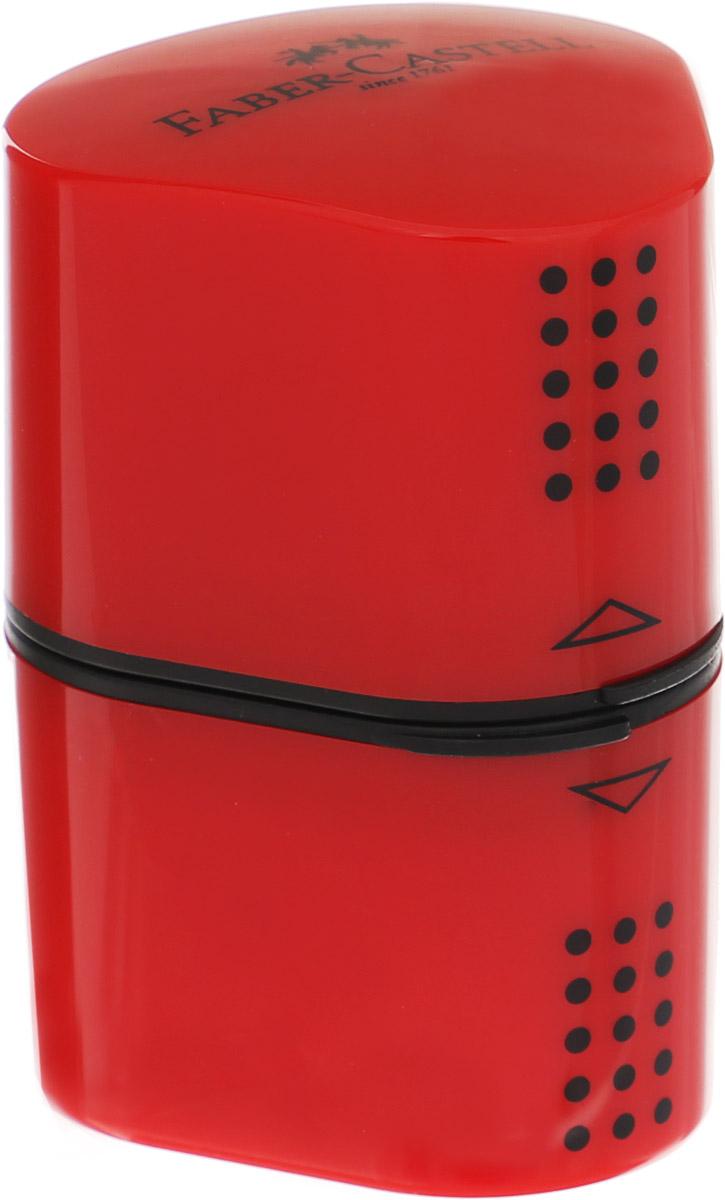 Faber-Castell Точилка Trio Grip 2001 цвет красный183801_красныйТочилка Faber-Castell Trio Grip 2001 подходит для стандартных, трехгранных, цветных и толстых карандашей типа Jumbo. Точилка имеет емкость для стружек с обеих сторон. Точилка затачивает карандаши остро, не ломает, ее удобно держать в руках. Легко открывается и плотно защелкивается. Изготовлена точилка из качественных и безопасных материалов.