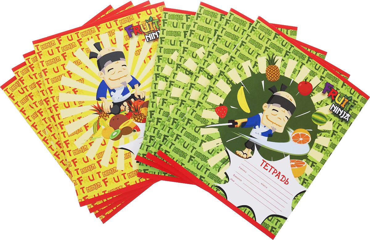 Action! Набор тетрадей Fruit Ninja 24 листа в клетку цвет зеленый желтый 8 штFN-AN 2402/5_зелёный,жёлтыйНабор тетрадей Action! Fruit Ninja идеально подойдет для занятий школьнику или студенту. Обложка, выполненная из плотного картона, позволит сохранить тетрадь в аккуратном состоянии на протяжении всего времени использования. Обложка тетради оформлена красочным изображением с героями игры Fruit Ninja. Внутренний блок тетради состоит из 24 листов белой бумаги в голубую клетку с полями. В комплекте 8 тетрадей.