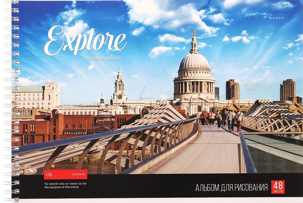 ArtSpace Альбом для рисования Лондон 48 листовА48сп_9197_ЛондонАльбом для рисования ArtSpace Лондон порадует маленького художника и вдохновит его на творчество. Обложка из плотного картона оформлена изображением столицы Англии. Высокое качество бумаги позволяет карандашам, фломастерам и краскам ровно ложиться на поверхность и не растекаться по листу. Способ крепления - металлический гребень. В альбоме 48 листов. Во время рисования совершенствуется ассоциативное, аналитическое и творческое мышления. Занимаясь изобразительным творчеством, ребенок тренирует мелкую моторику рук, становится более усидчивым и спокойным.