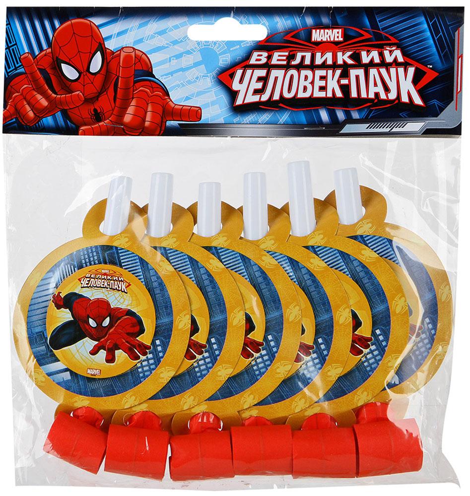 Веселая затея Язык-гудок с карточкой Великий Человек-паук 6 шт1501-1707Язык-гудок Веселая затея при использовании разворачивает длинную часть из бумаги, издавая характерный громкий звук. Игрушка дополнена круглой карточкой с изображением Человека-паука. Красочные гудки с разворачивающимися язычками - это не просто источник веселого шума. По древним поверьям свистульки отпугивали злых духов и вызывали добрых. В языческие заклинания уже давно никто не верит, но почему бы не добавить элемент волшебства на своей вечеринке, раздав друзьям разноцветные языки-гудки.