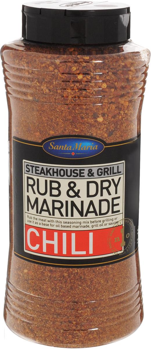 Santa Maria Сухой маринад Чили, 700 г6432Сухой маринад с ярким ароматом и вкусом чили перца, копченой паприки и трав. Подходит к говядине, свинине, курице, блюдам из фарша и рыбы. Уважаемые клиенты! Обращаем ваше внимание, что полный перечень состава продукта представлен на дополнительном изображении.