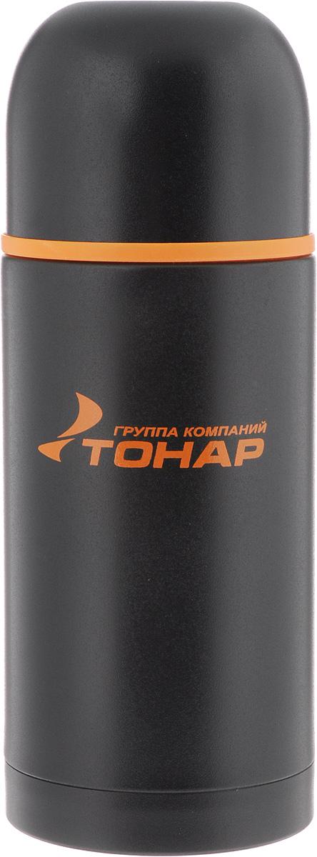 Термос ТОНАР HS TM-025, с чашей, 1 л149724Термос ТОНАР HS TM-025 оснащен двойными стенками с вакуумной изоляцией, которая позволяет сохранять напитки горячими или холодными длительное время. Изготовлен из высококачественной нержавеющей стали, с защитным покрытием. Отлично сохраняет температуру, свежесть напитка и его оригинальный вкус. Дополнительная теплоизоляция внутри пробки. Пробка без кнопки надежно закрывает колбу и проста в использовании. Крышка может послужить вместительной чашкой, также в комплект входят дополнительная чаша и инструкция по эксплуатации. Термос сохраняет тепло до 12 часов и удерживает холод до 24 часов. Диаметр горлышка: 5 см. Диаметр основания: 9 см. Высота (с учетом крышки): 29,5 см. Размер крышки-чаши: 9 х 9 х 7 см. Размер чаши: 8 х 8 х 5 см.